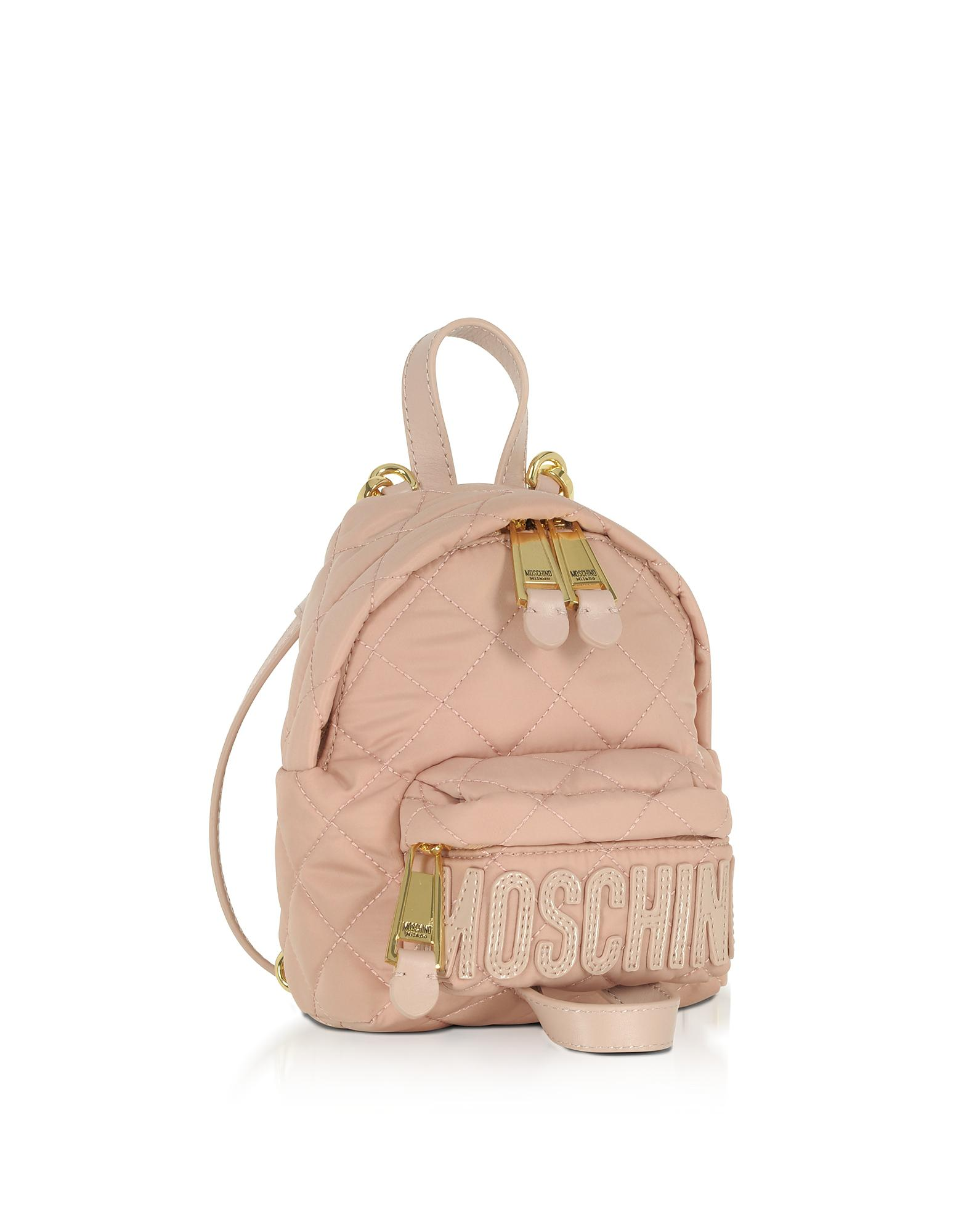 Lyst - Moschino Powder Pink Quilted Nylon Mini Backpack W logo in Pink 961b9d3b263a0