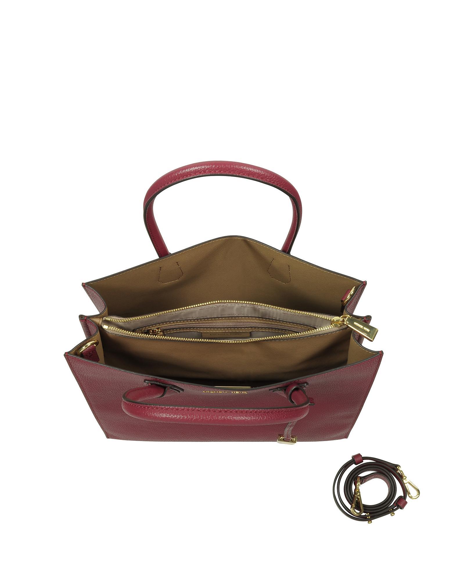 936f9ffd76da Lyst - Michael Kors Mercer Large Mulberry Pebble Leather Convertible ...