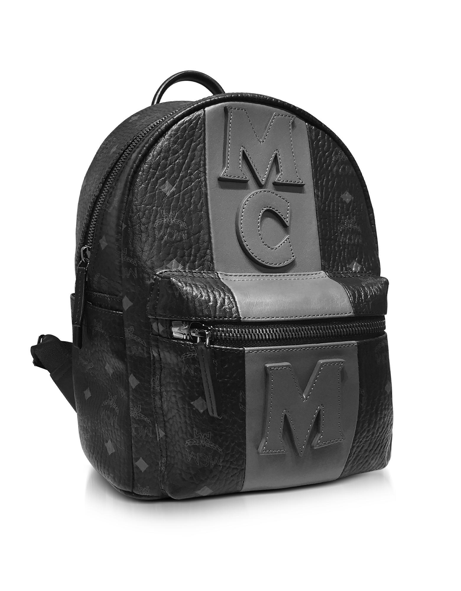 eab2e30e43e685 MCM Stark Stripe Black Medium Backpack in Black for Men - Lyst