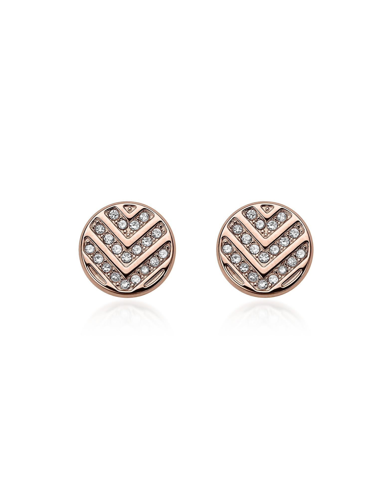 Fossil Women Stainless Steel Stud Earrings - JF02906791