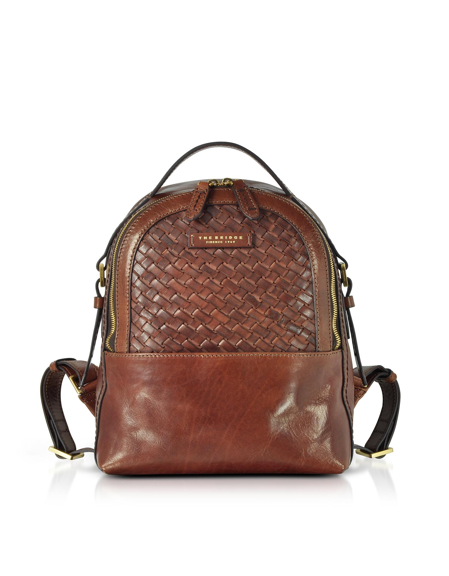 0bc55ac48823 Lyst - The Bridge Salinger Woven Leather Women s Backpack in Brown