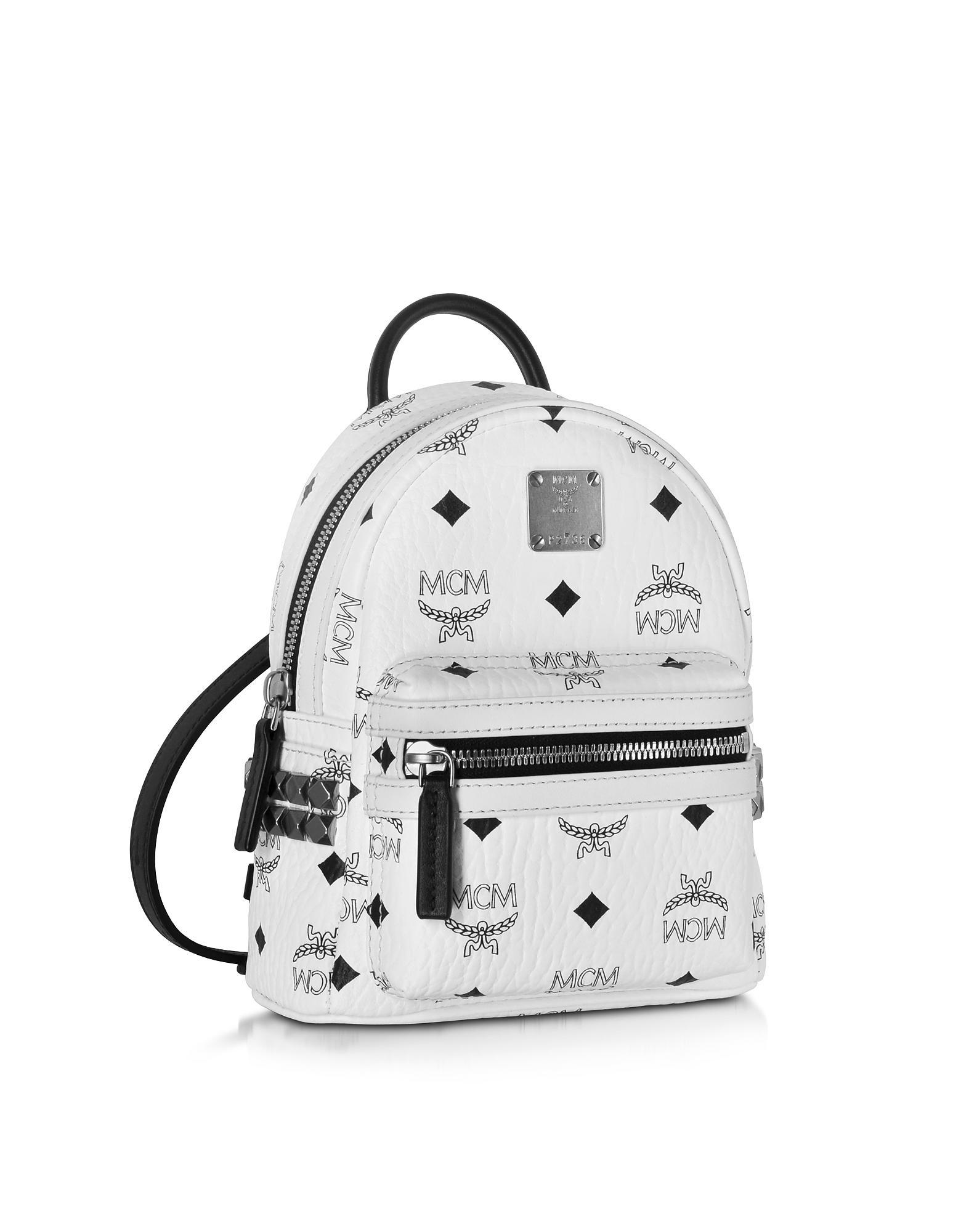 ccfa78c4c611 Lyst - MCM Stark Bebe Boo White Backpack in White