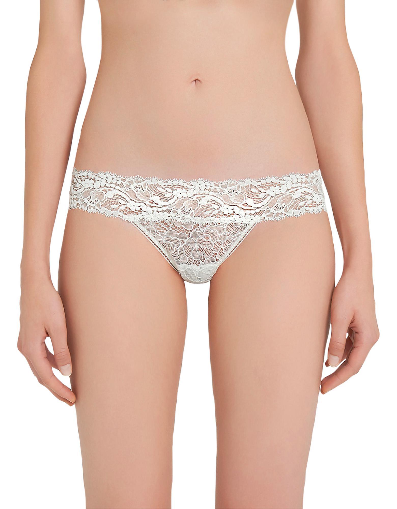 b67acab1ac0a Lyst - La Perla Freedom Stretch Leavers Lace Thong in White