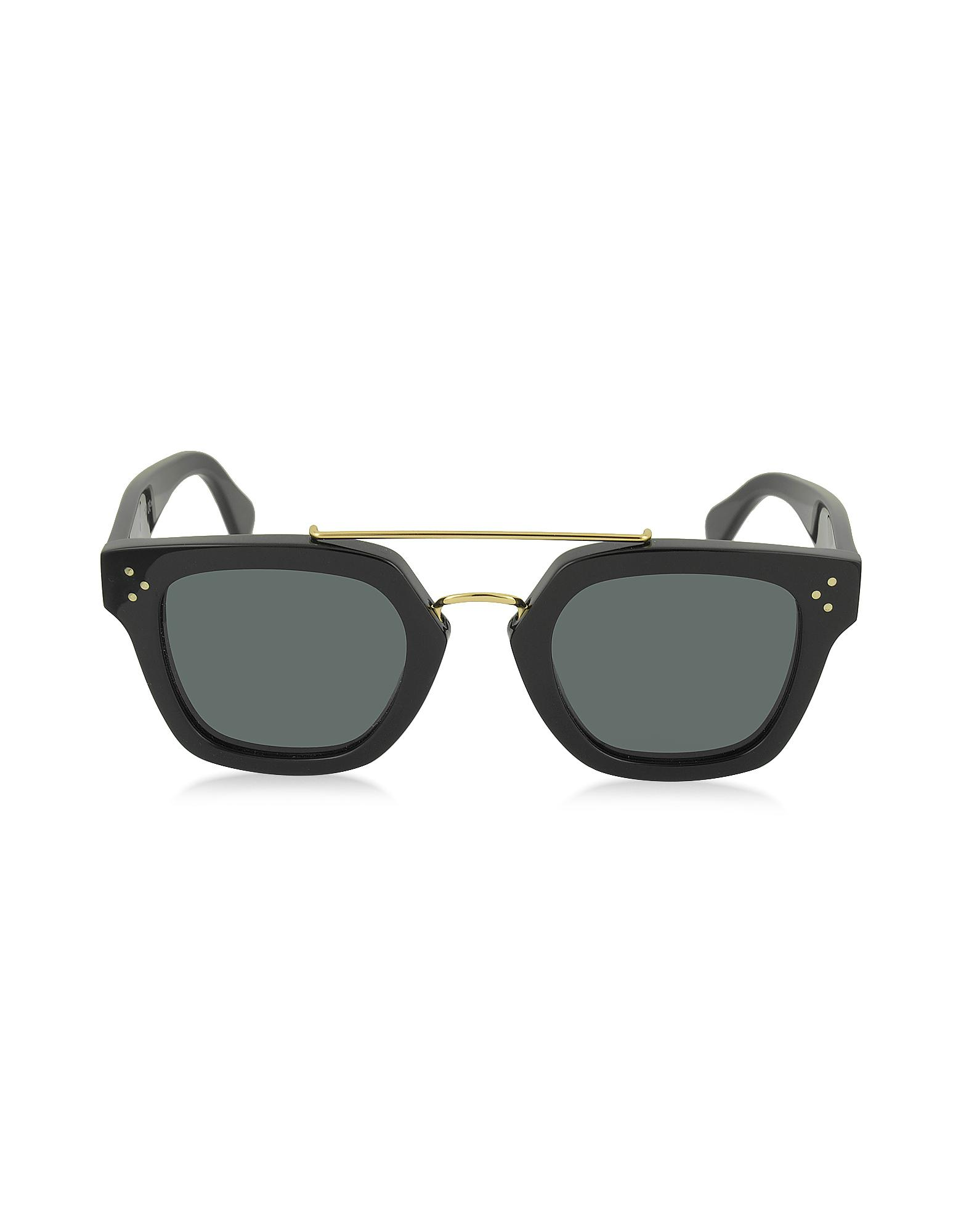 04011e157468 Lyst - Céline Bridge Cl 41077 s 807bn Black Acetate Geometric Unisex ...