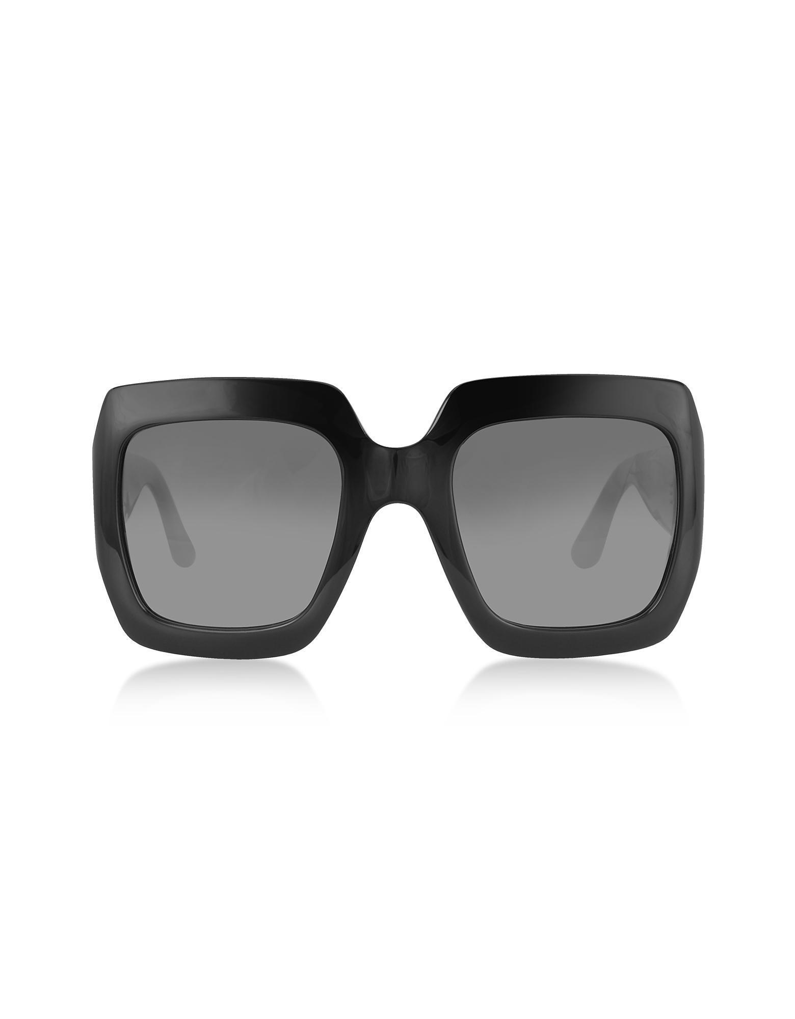 04b12530744 Gucci GG0053S 001 Black Acetate Square Women s Sunglasses in Black ...
