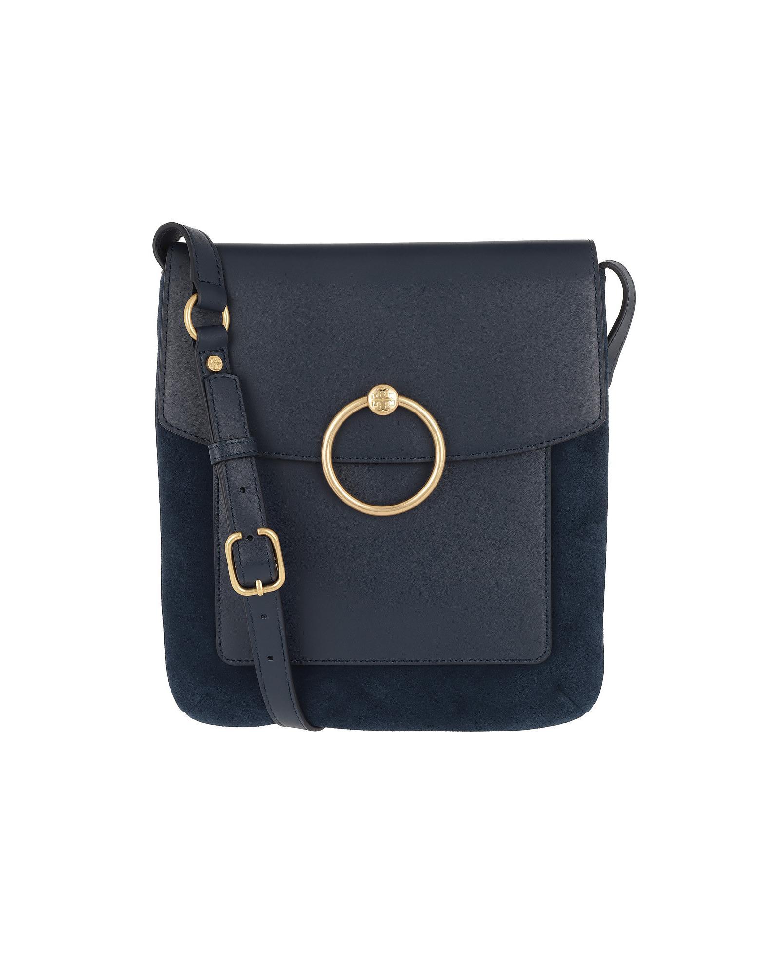 525a5b798ff87d Tory Burch Farrah Shoulder Bag Royal Navy in Blue - Lyst