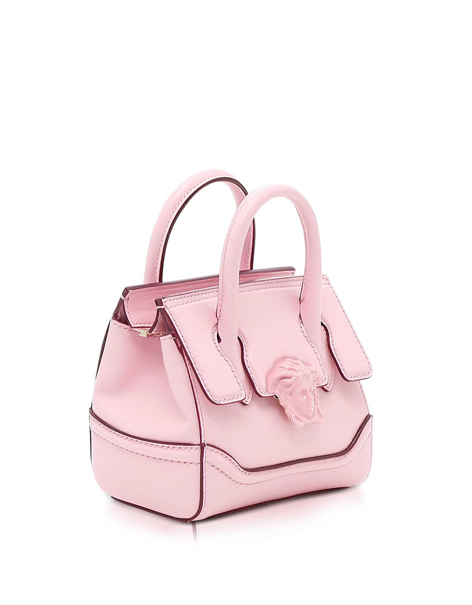 92f11ad44b Lyst - Versace Palazzo Empire Pink Leather Mini Handbag in Pink
