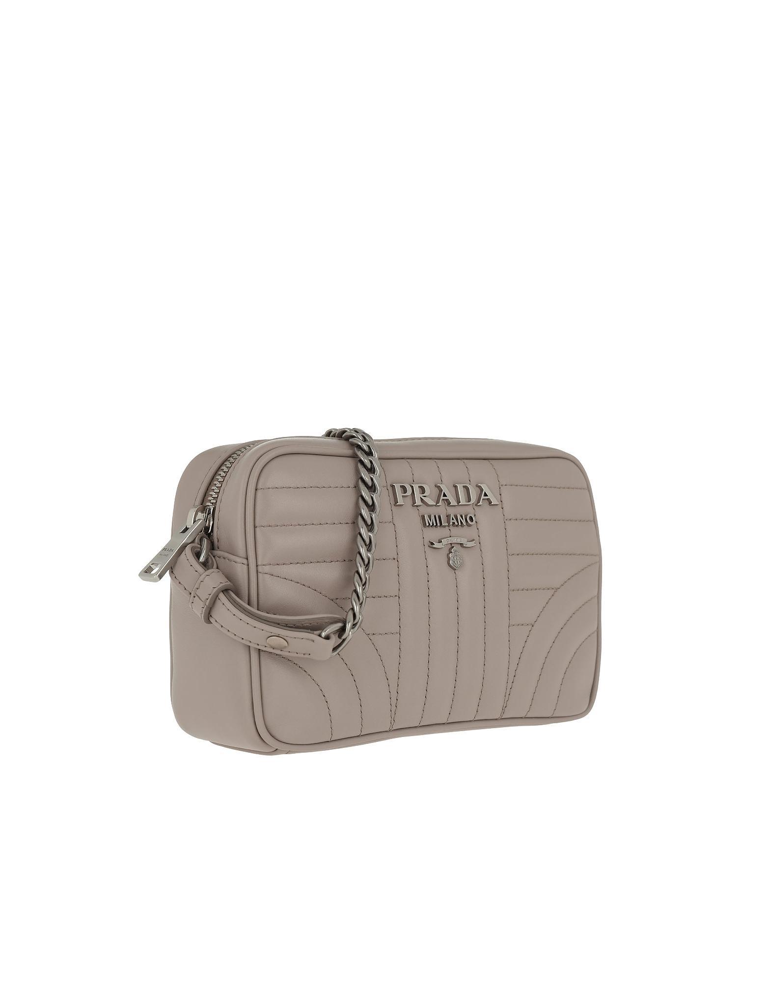 0fc074c8608 Lyst - Prada Diagramme Crossbody Bag Leather Pomice 2 in Pink