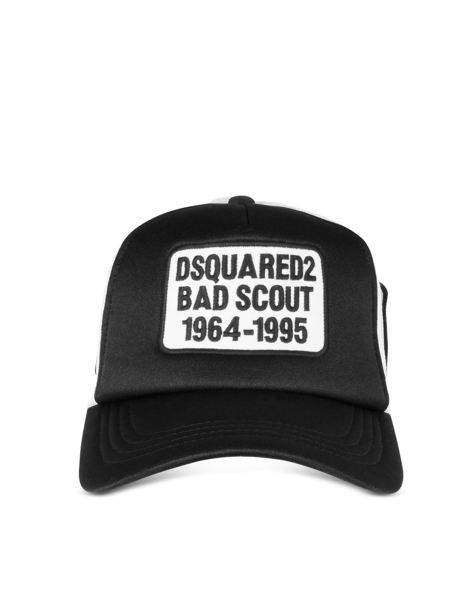 6af71bf416683e DSquared² Black And White Bad Scout Baseball Cap in Black for Men - Lyst