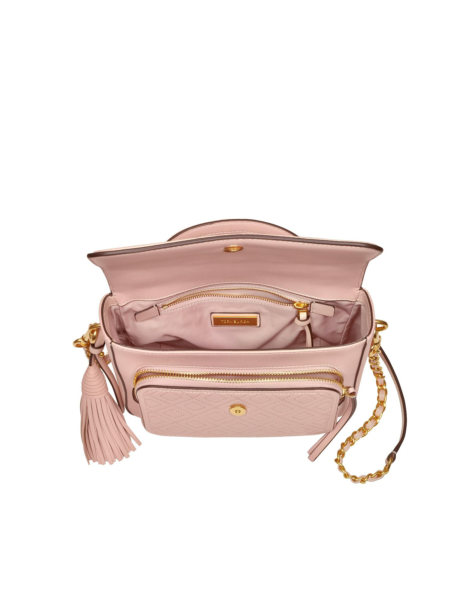 07efbaf57292 Tory Burch Shell Pink Fleming Leather Satchel Bag W shoulder Strap ...