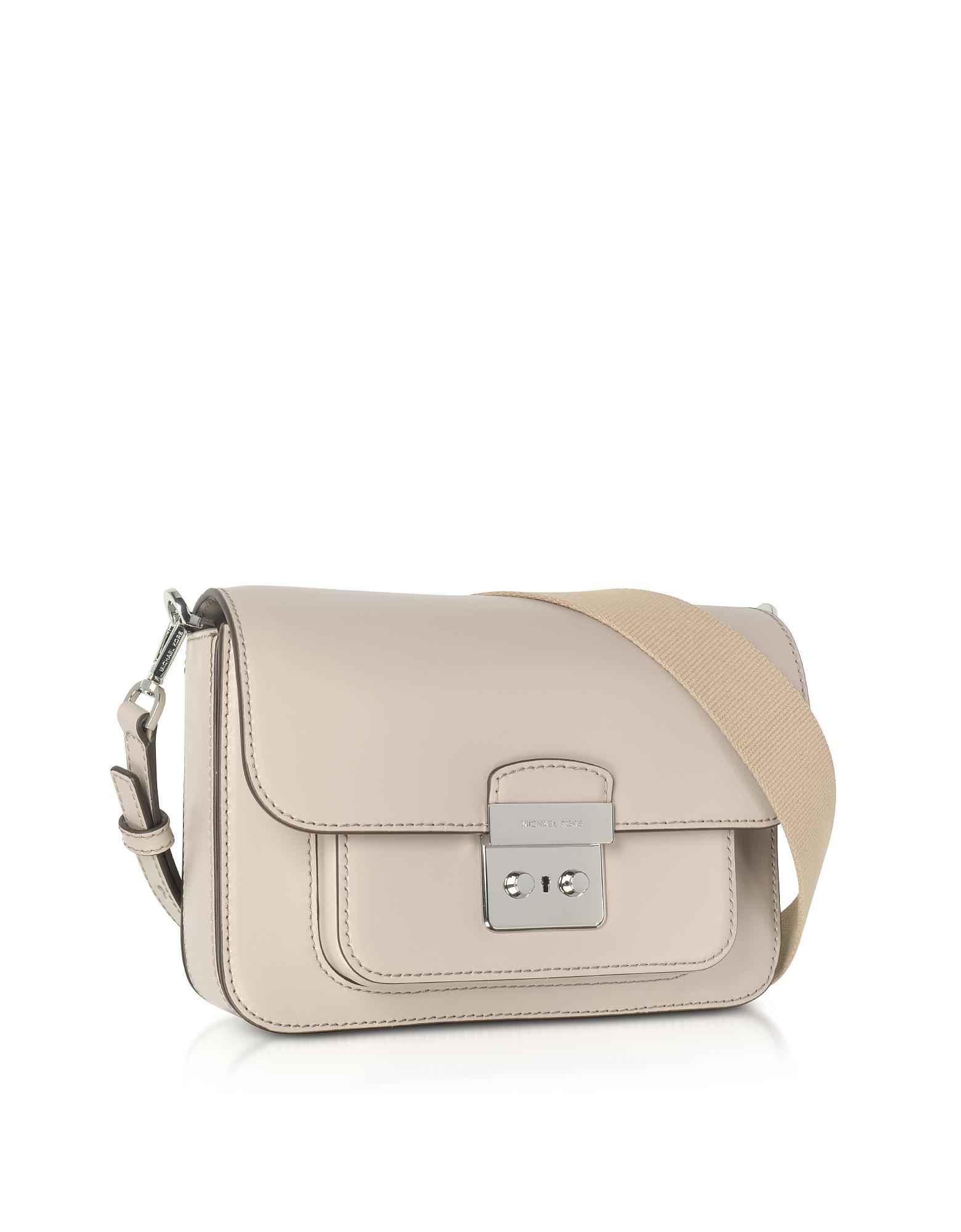 1aa0221058dc Lyst - Michael Kors Sloan Editor Large Cement Leather Shoulder Bag ...
