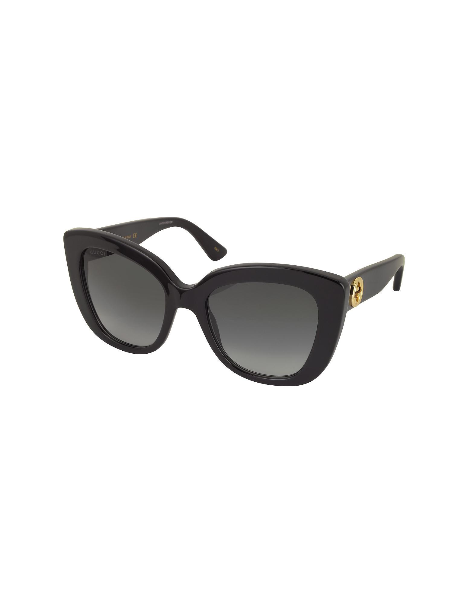 5e3d3cbcf04 Gucci Oversized Rectangular-frame Acetate Sunglasses in Black - Lyst