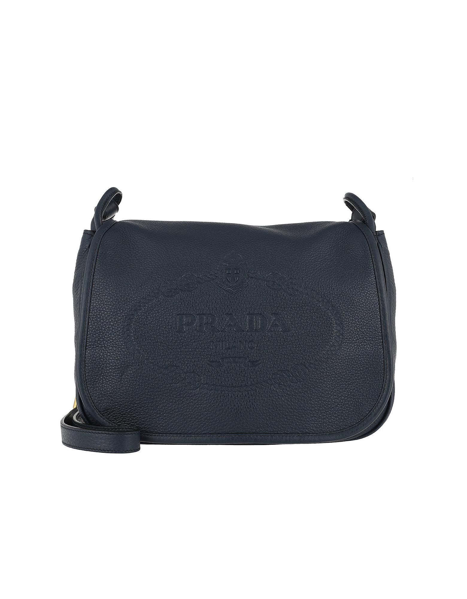 fc98aed7ea9d Prada Crossbody Bag Leather Baltico in Blue - Lyst