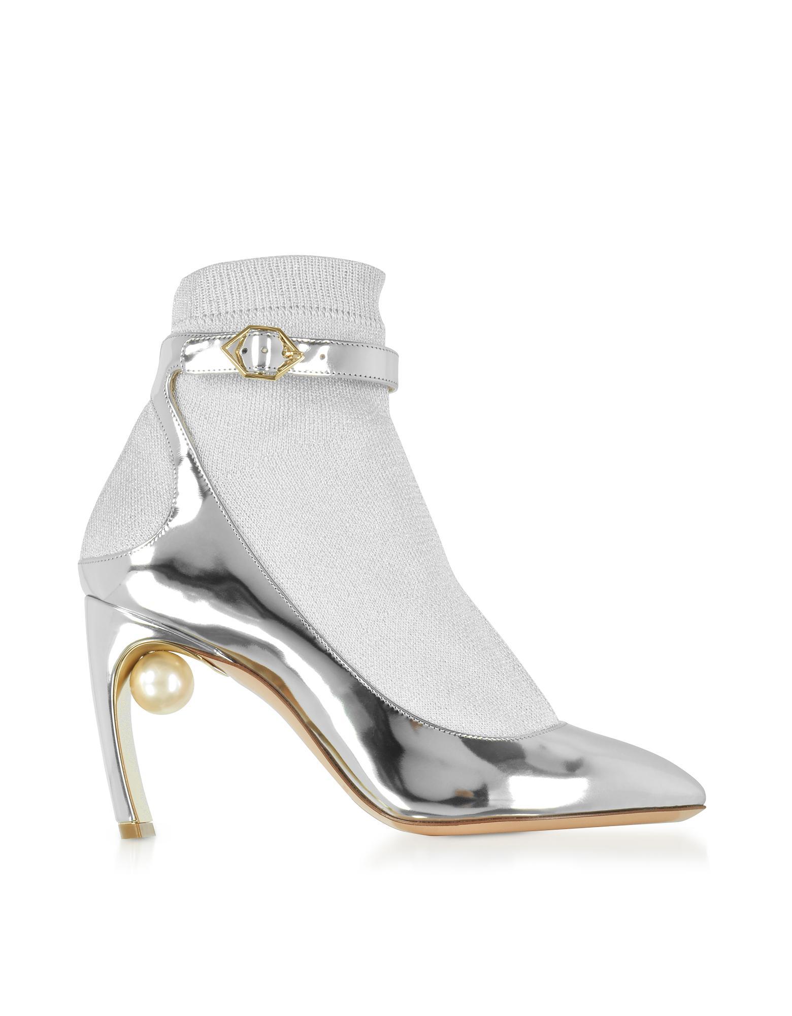 Lola pearl sock pumps - Metallic Nicholas Kirkwood VJjV7