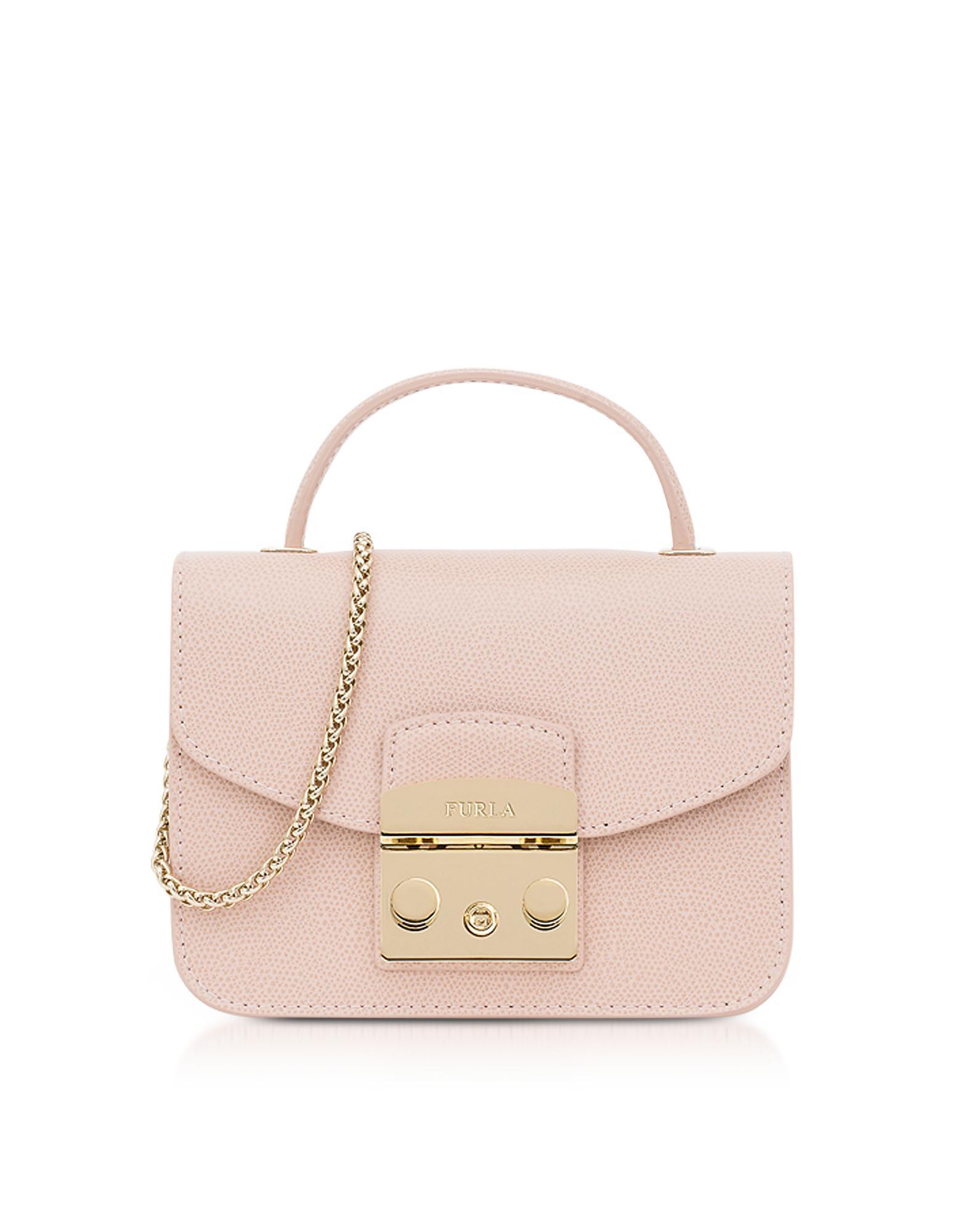 9a988eba6878 Lyst - Furla Moonstone Metropolis Mini Top Handle Crossbody Bag in Pink