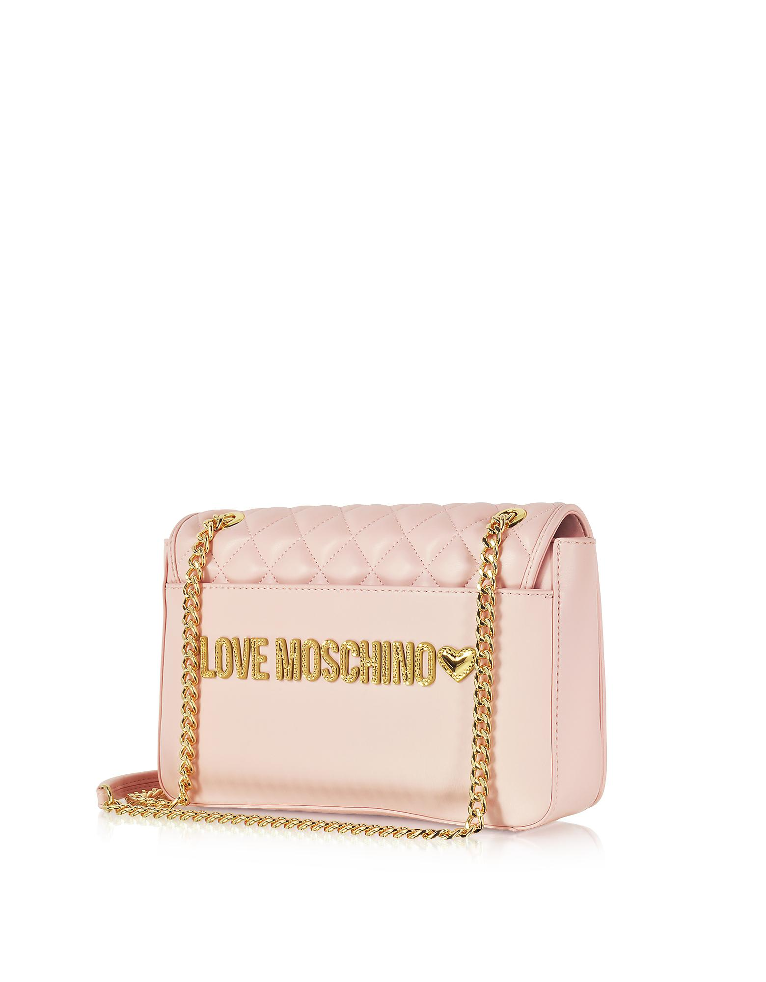 3b883a9f74 Love Moschino Pink Superquilted Eco-leather Shoulder Bag in Pink - Lyst