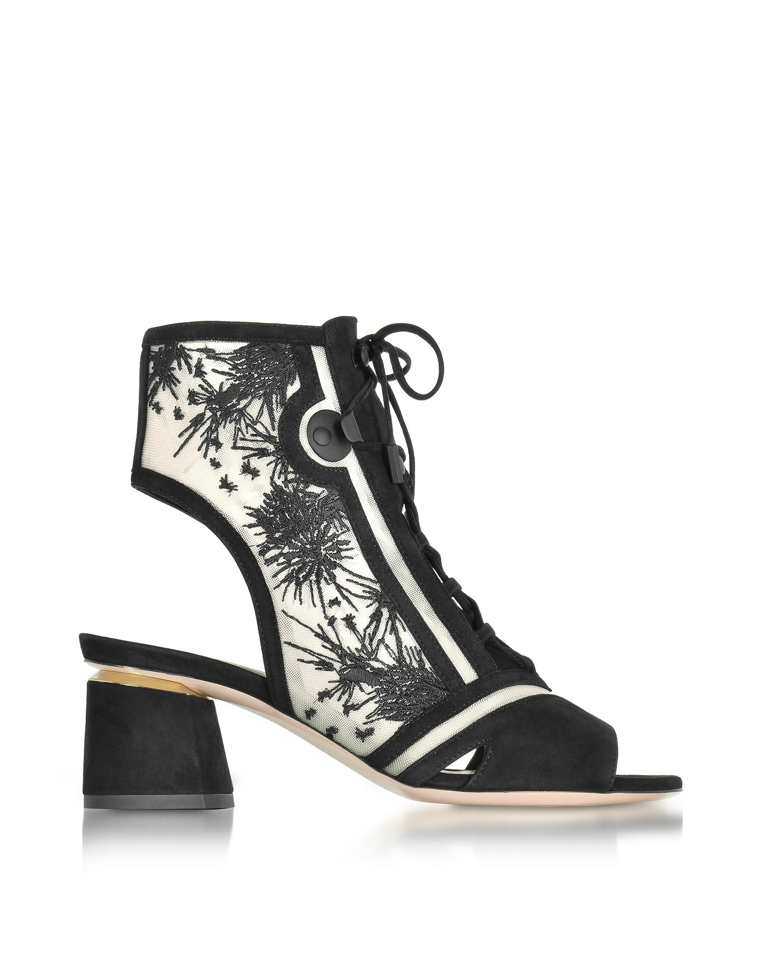 Nicholas Kirkwood Satin Lace-Up Booties free shipping latest sale with mastercard clearance official site cheap sale cheapest price hM6IIZ