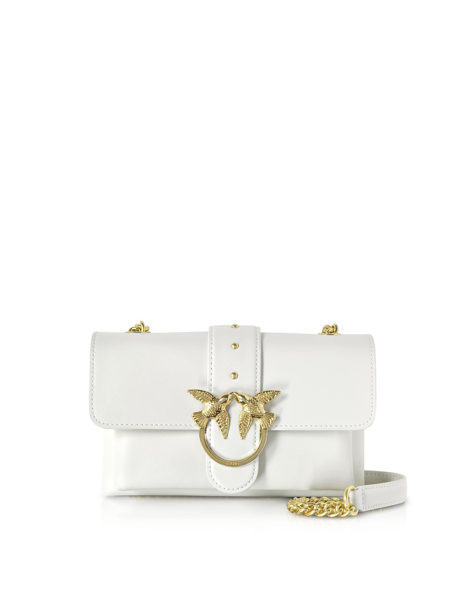 5257482c3005 Lyst - Pinko Mini Love Soft Shoulder Bag in White