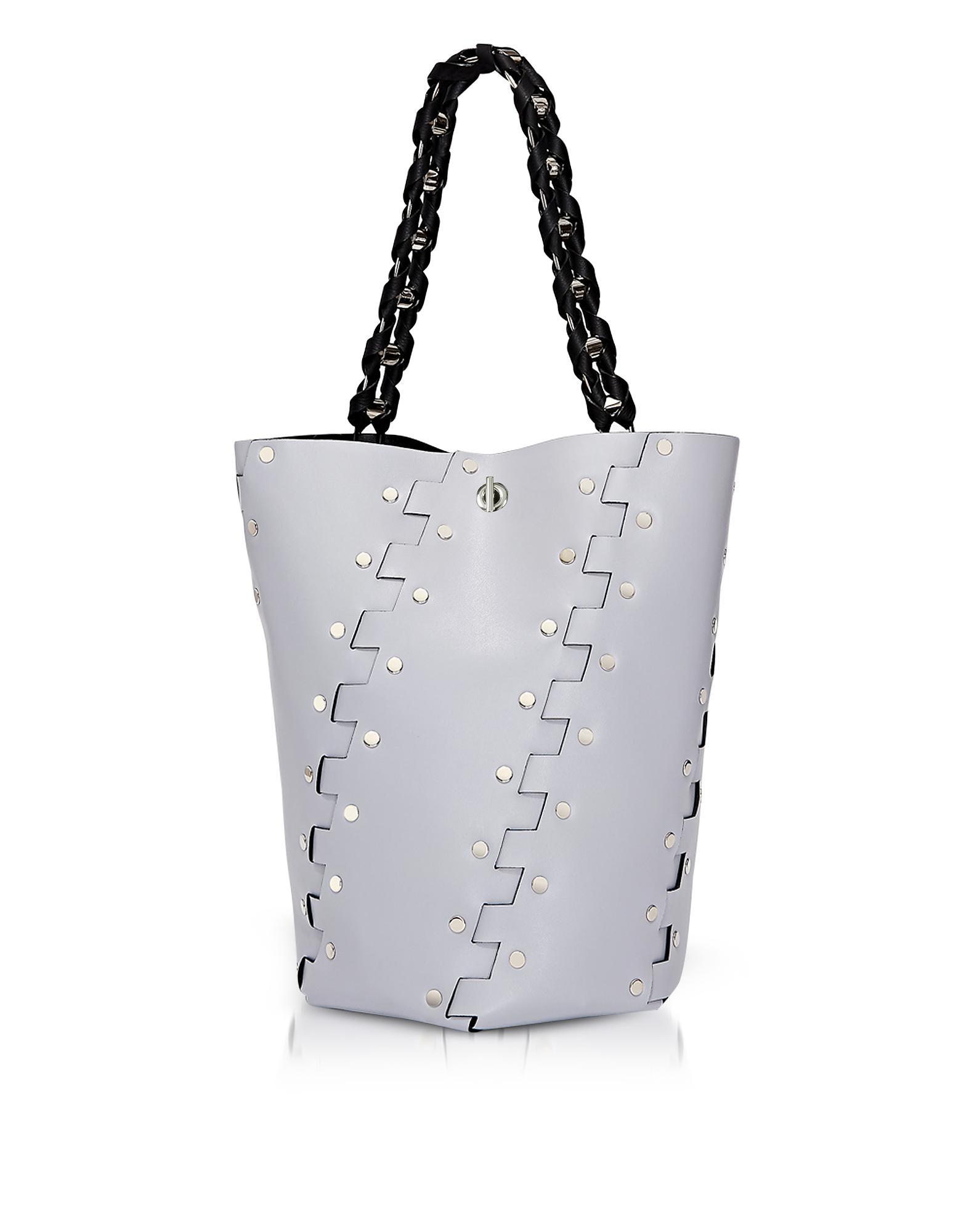 Mini Studded Hex Bucket Bag - Grey Proenza Schouler Cheap Manchester E2keNOE8