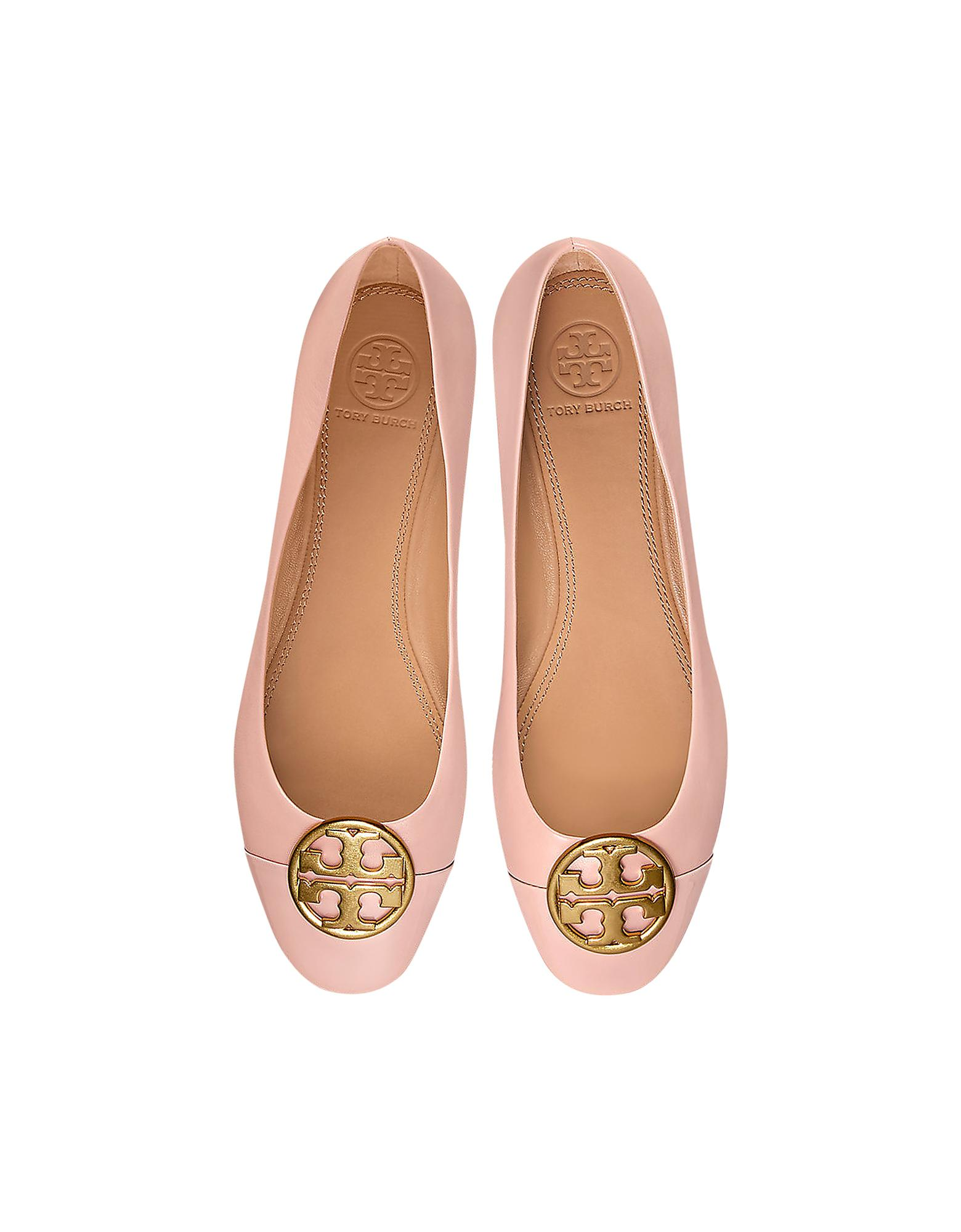 Tory Burch Shoes, Goan Sand Nappa & Patent Leather Chelsea Cap-Toe Ballet Flats