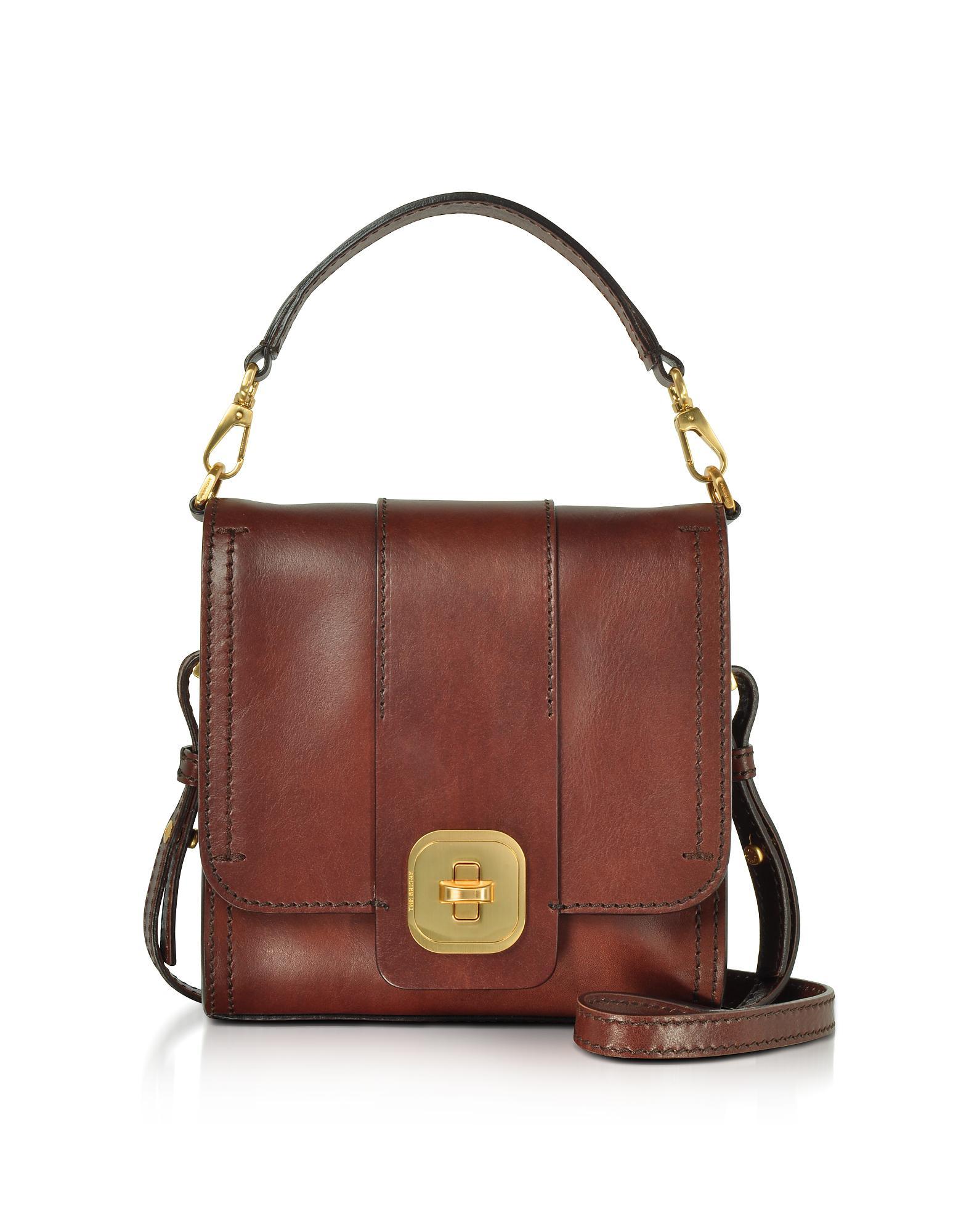 774672160a70 Lyst - The Bridge Genuine Leather Top Handle Crossbody Bag in Brown