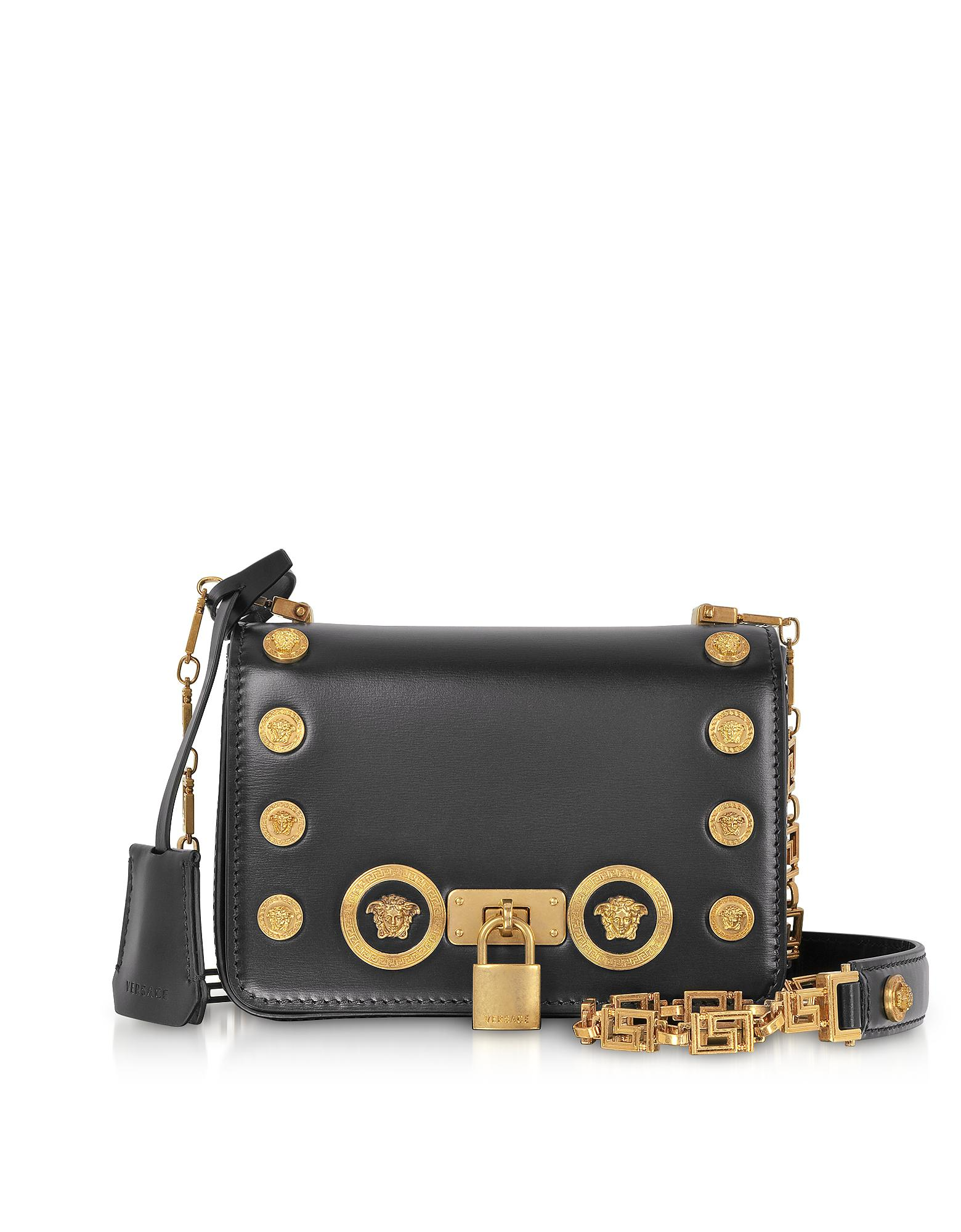 Lyst - Versace Small Icon Shoulder Bag in Black - Save 56% 01f101b45ccf6