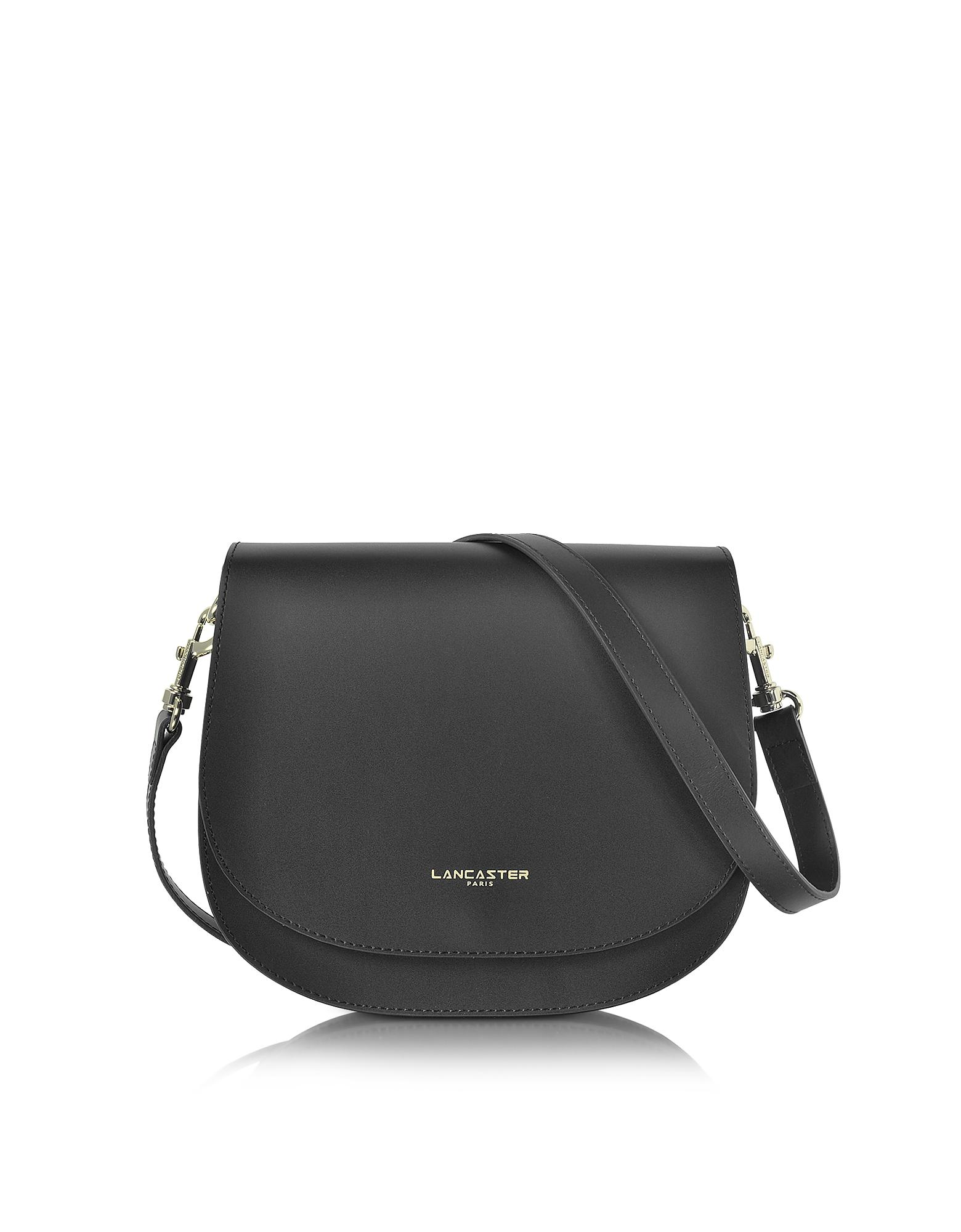 b6784b967961 Lancaster Paris Camelia Leather Crossbody Bag in Black - Lyst