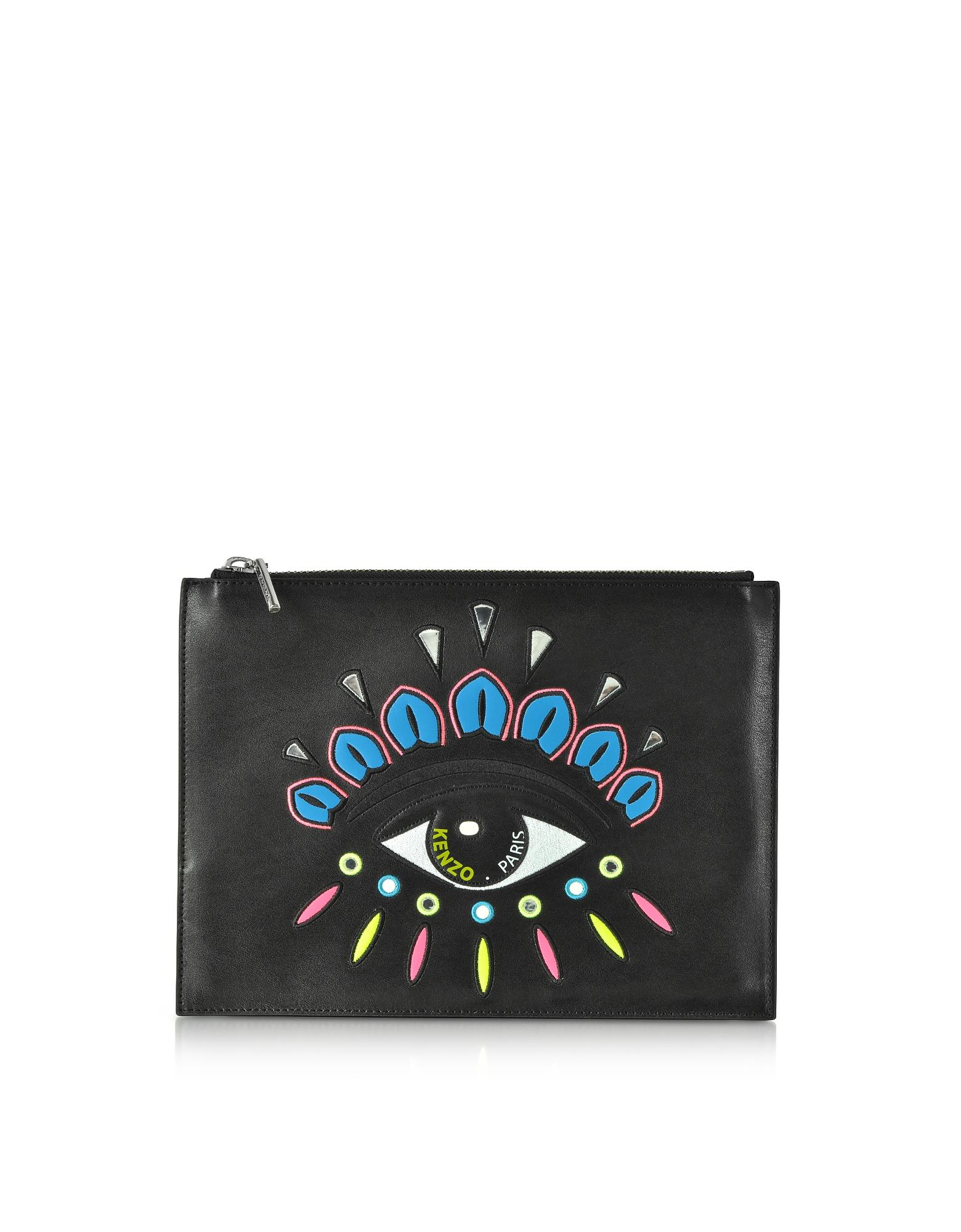 4acc7207512 Lyst - KENZO Eye Clutch in Black - Save 39%