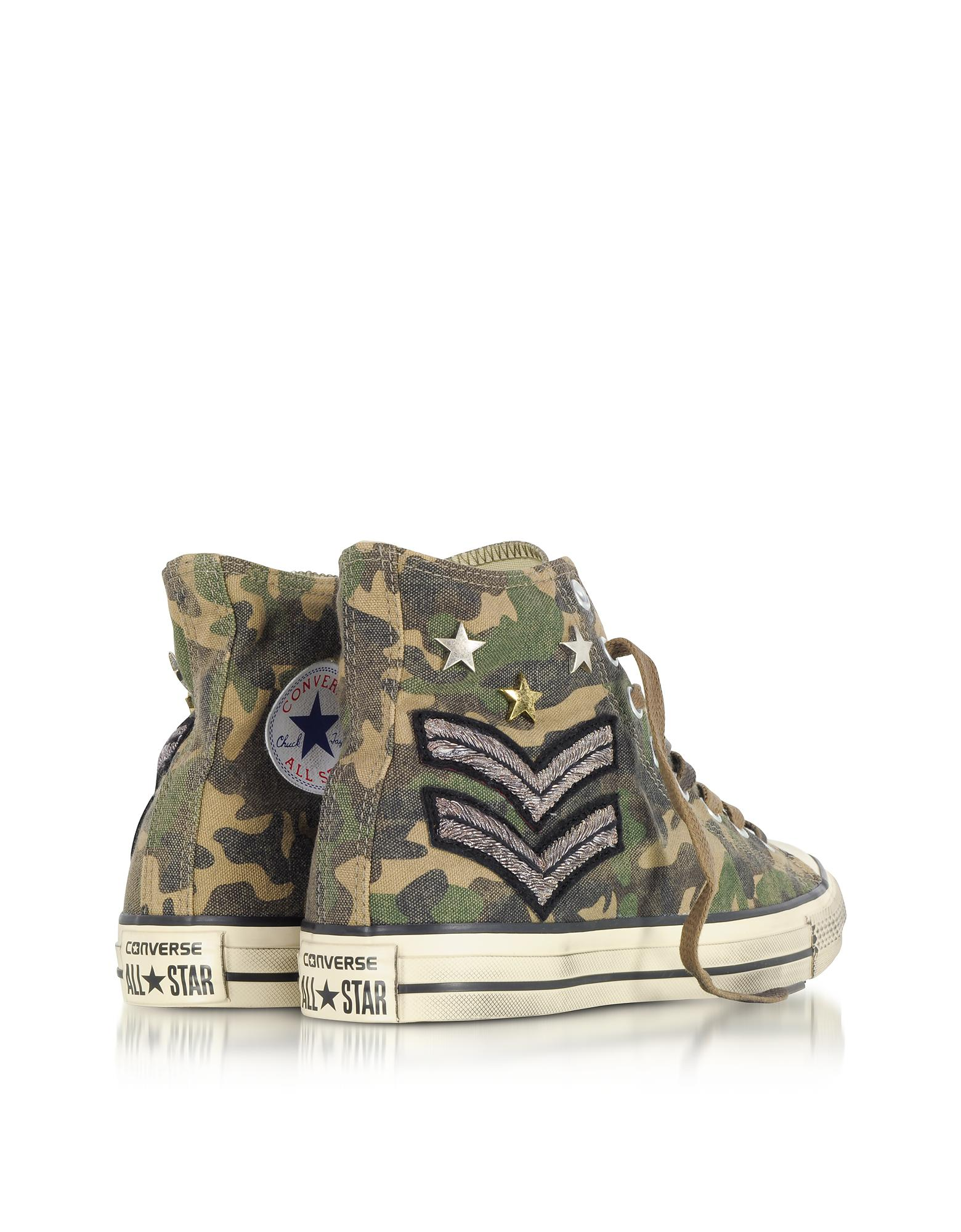 c55bff4c7ee6 Lyst - Converse Chuck Taylor All Star High Military Patchwork Canvas ...