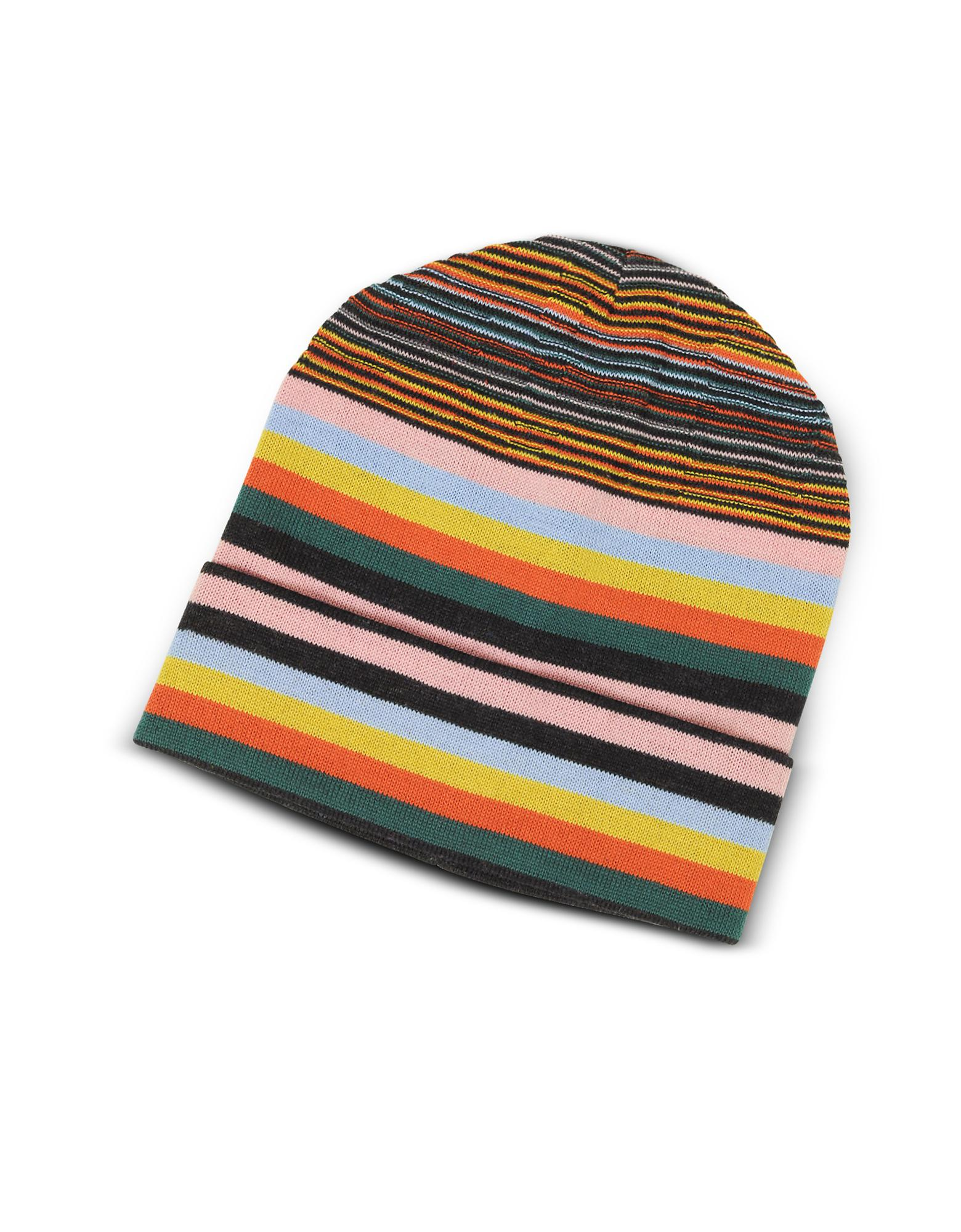 530aba7d87a Missoni Striped Wool Blend Men s Hat in Pink for Men - Lyst