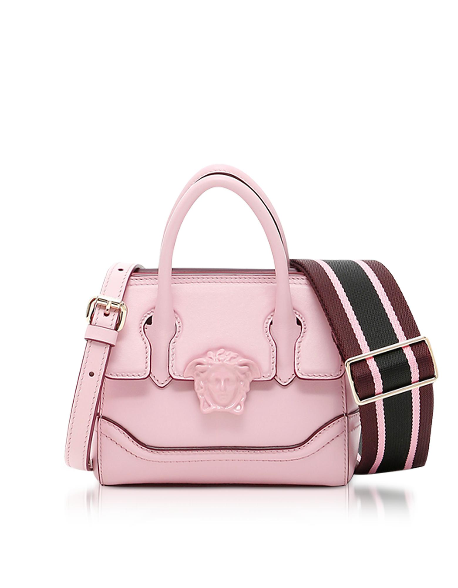 21c05a241d Versace Palazzo Empire Pink Leather Mini Handbag in Pink - Lyst