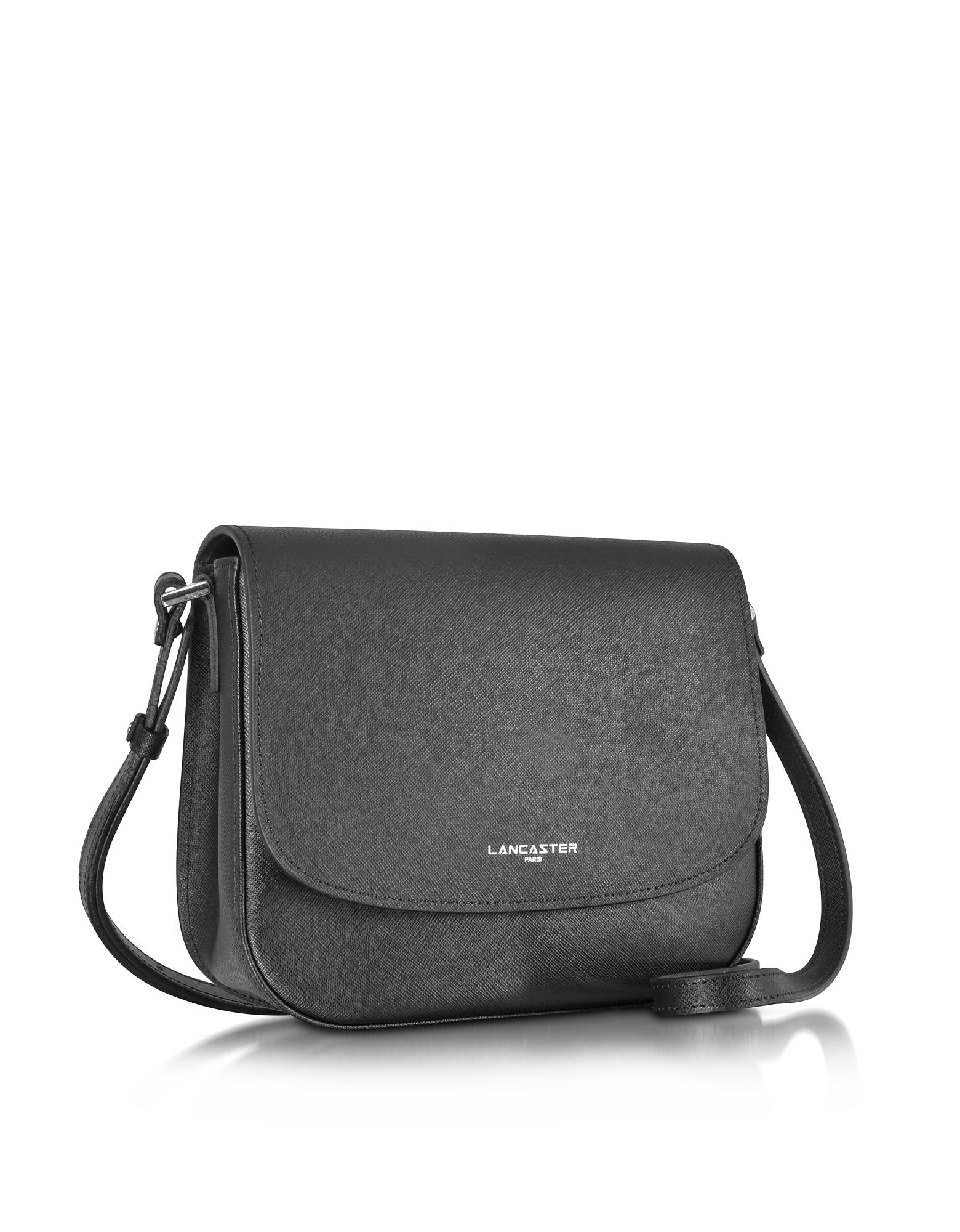 64aeef07f3a1 Lancaster Paris Adele Saffiano Leather Crossbody Bag in Black - Lyst