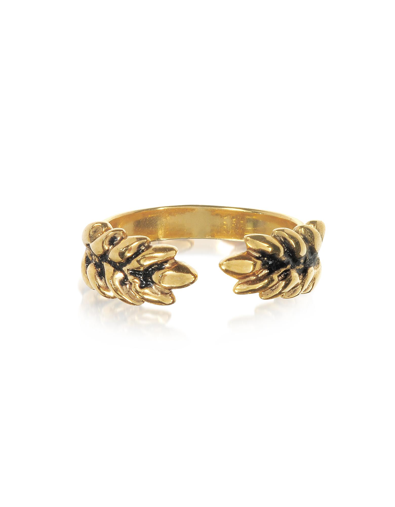 Aurélie Bidermann Wheat Cuff Bracelet in 18K Gold-Plated Brass k65eq7