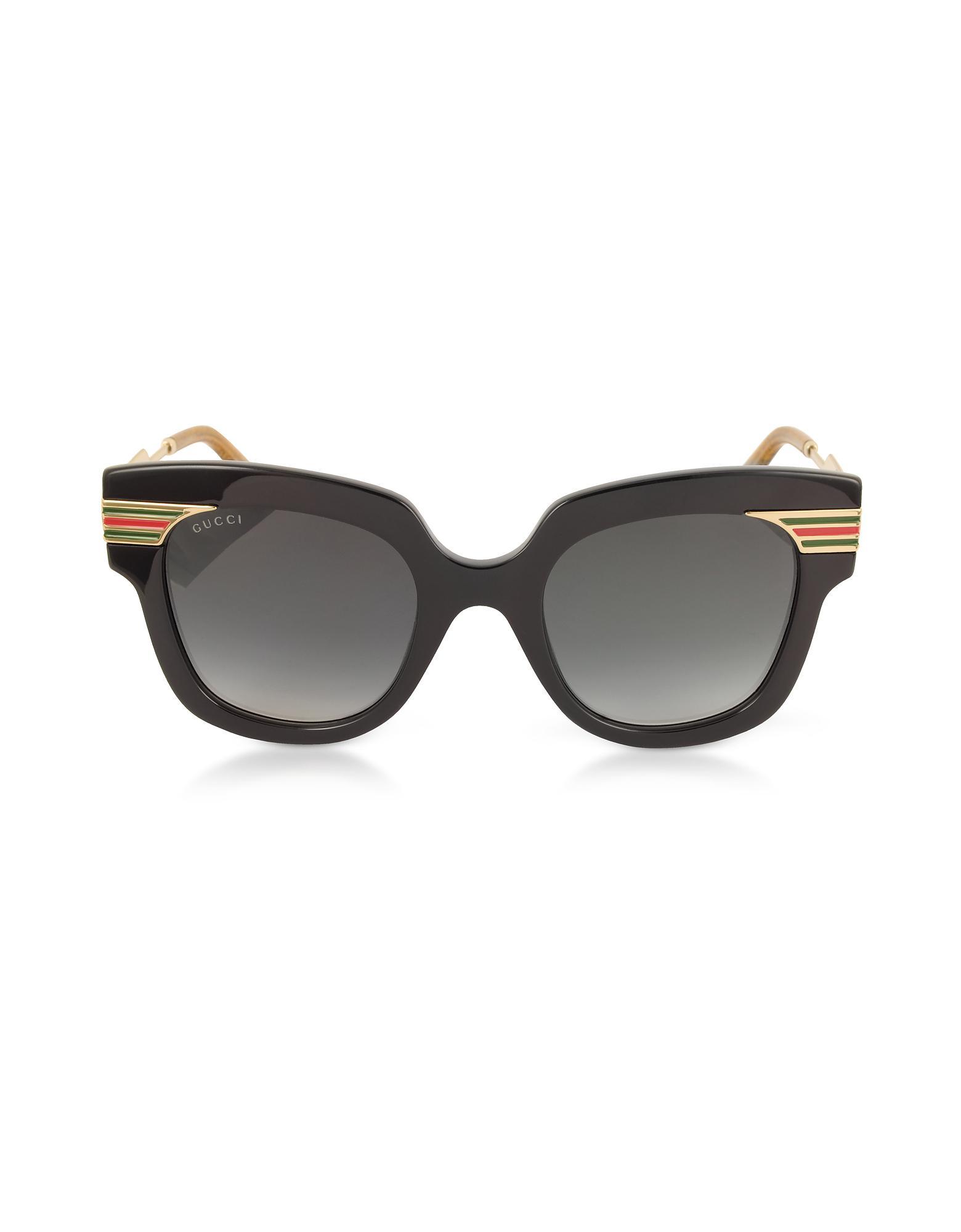 4d1c84f6fb Gucci Gg0281s Square-frame Black Acetate Sunglasses W sylvie Web ...