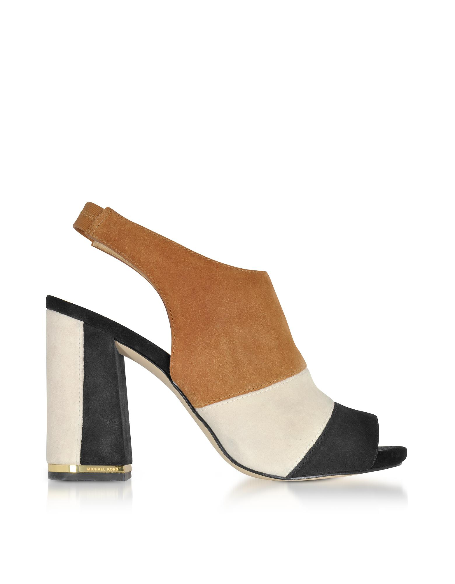 MICHAEL CMa6xkNuw5 JESSIE OPEN TOE BOOTIE - High heeled sandals - acorn flz0EF