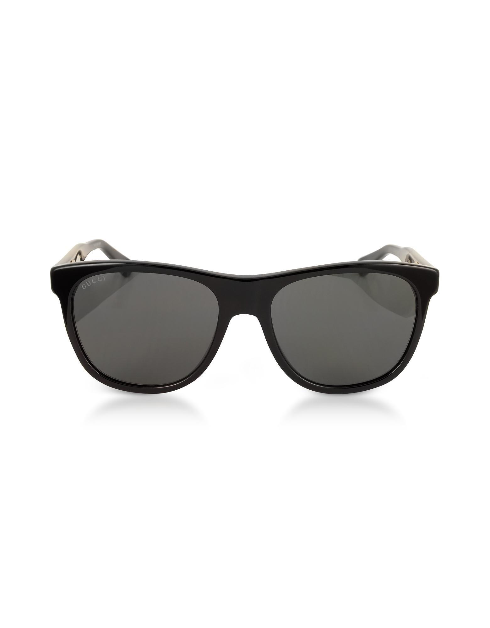 e0e9c4ec6bc Gucci - GG0266S Squared-frame Black Sunglasses W polarized Lenses for Men -  Lyst. View fullscreen