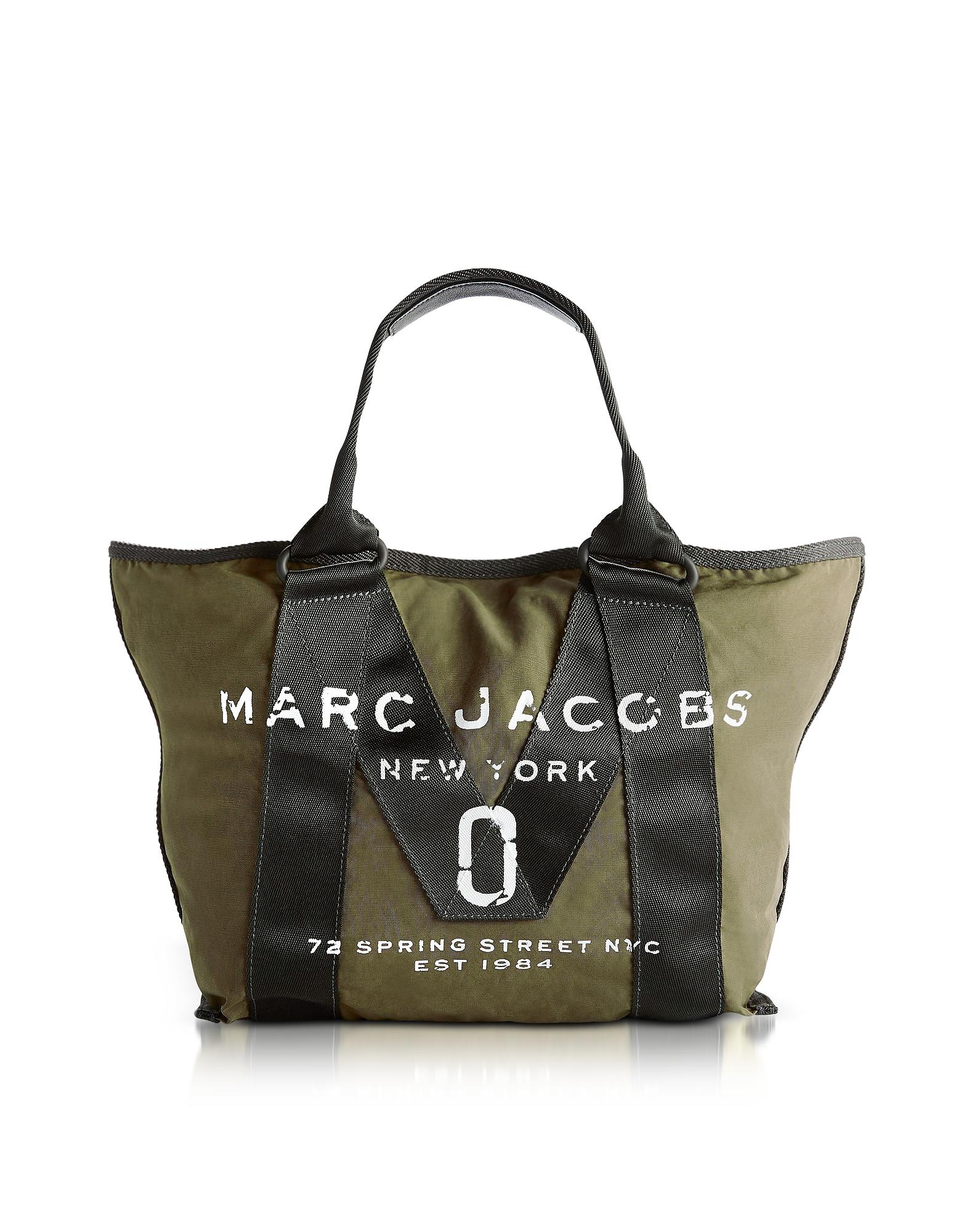 Marc Jacobs New Logo Army Green Cotton Tote in Green - Lyst db9ae7ad3ec20