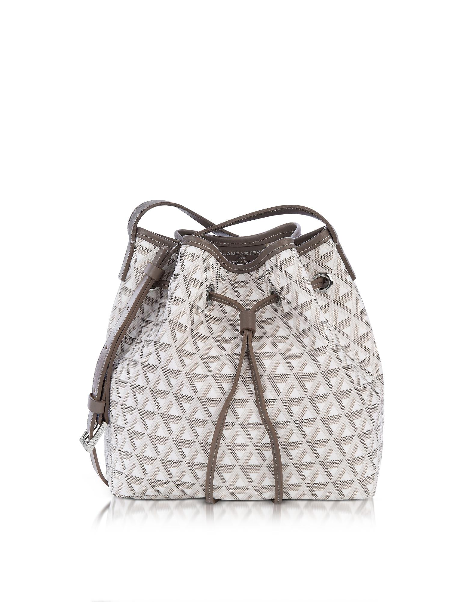 1cab4f81537b Lancaster Paris. Women s Ikon Small Coated Canvas Bucket Bag