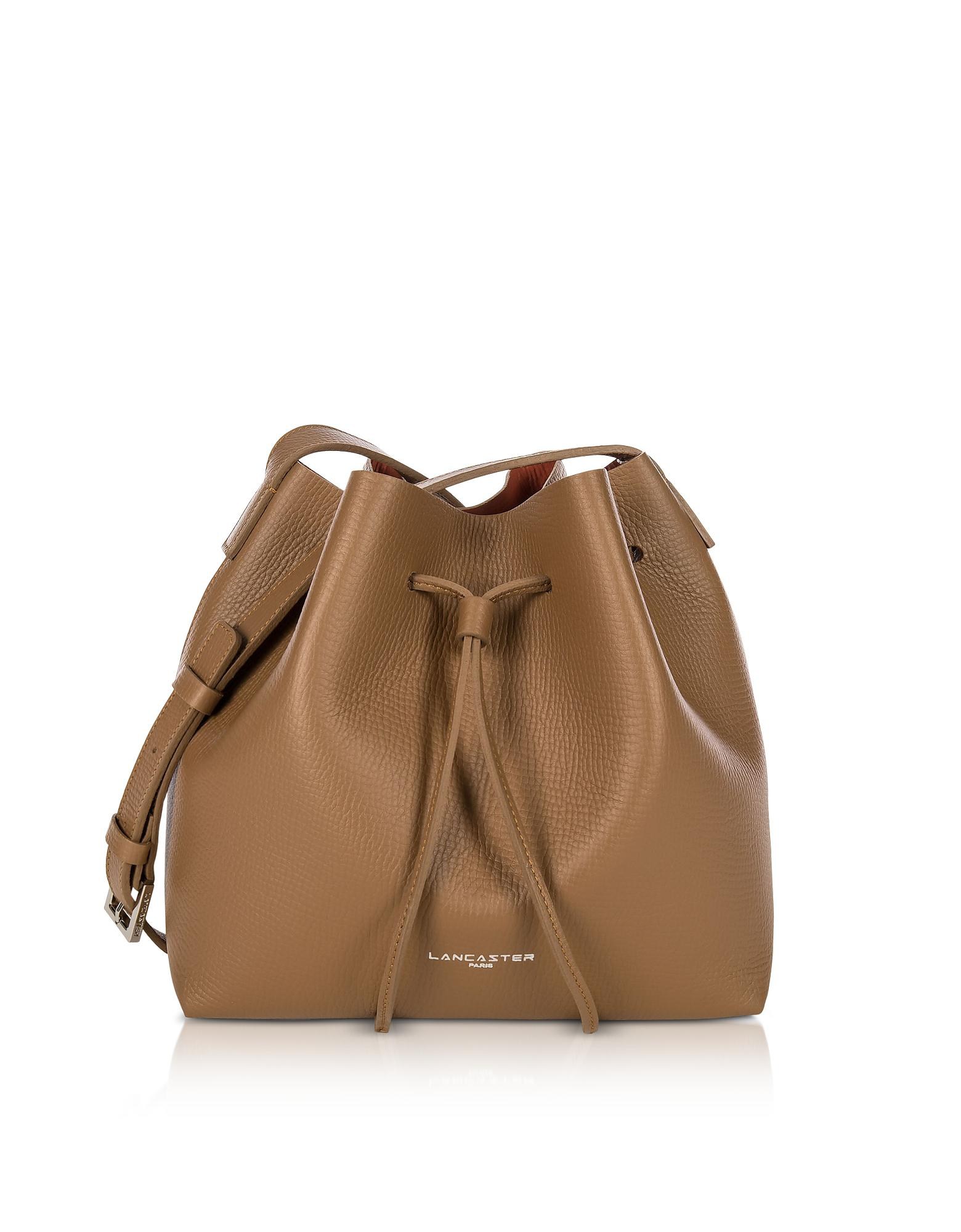 029e67df38ae Lancaster Paris. Women s Brown Pur And Element Foulonné Camel pumpkin Small  Bucket Bag