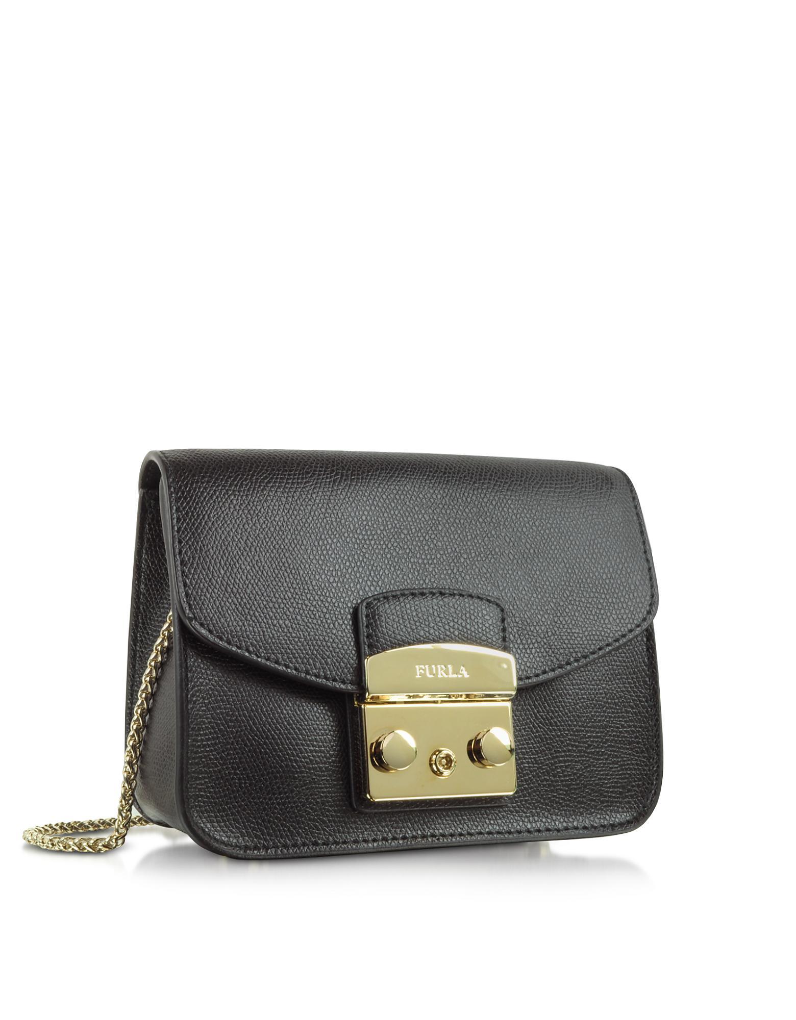 4dfb1fc0697 Lyst - Furla Metropolis Mini Crossbody Bag in Black - Save 32%