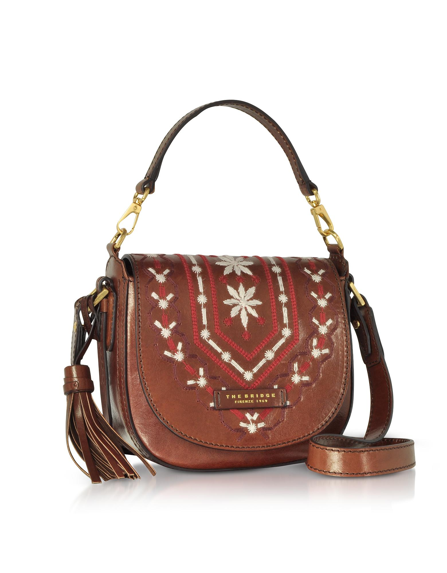 Lyst - The Bridge Fiesole Embroidered Leather Shoulder Bag in Brown e44c6c3a8f48b