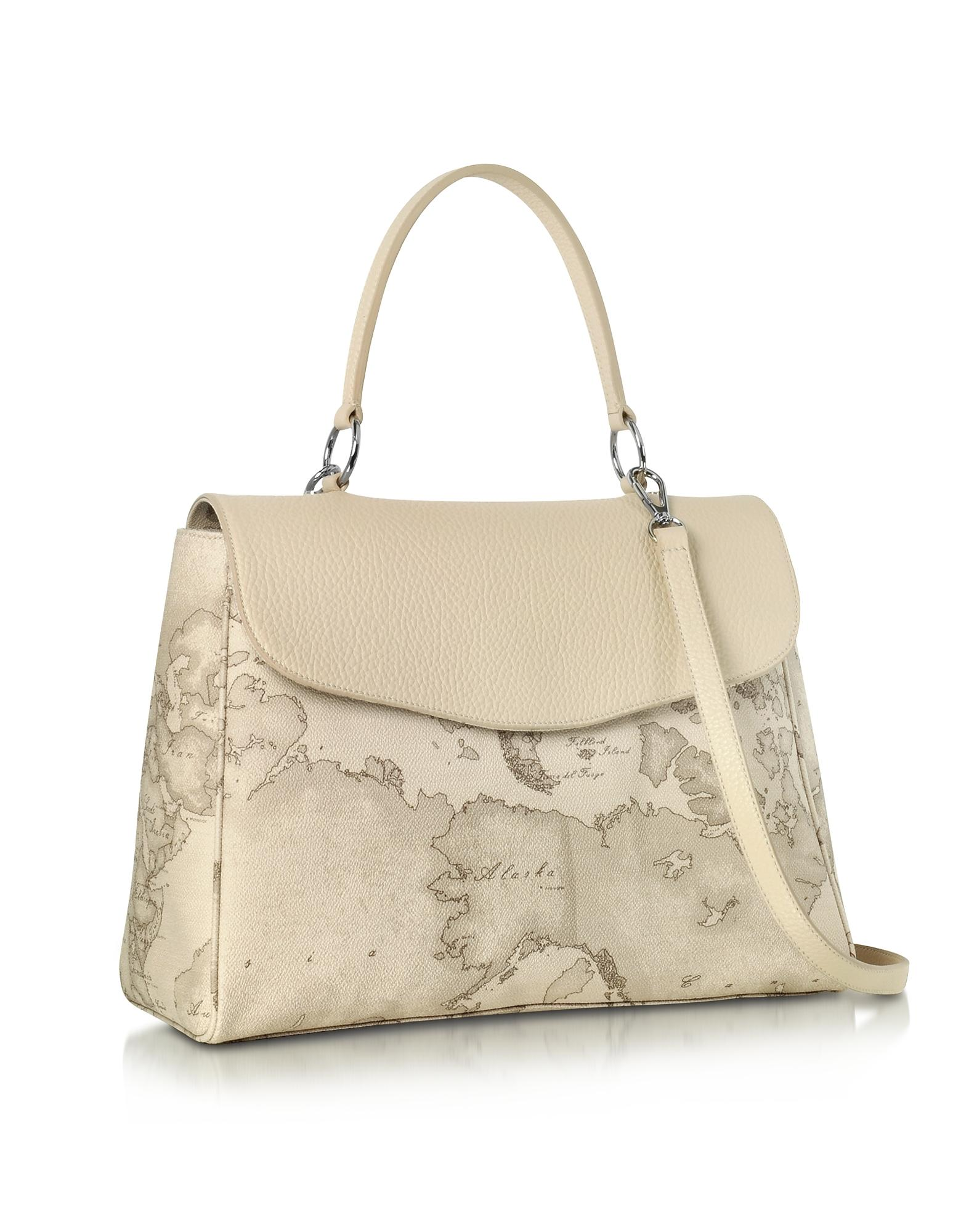 0ff92ced23 Lyst - Alviero Martini 1A Classe Geo Safari Print And Cream Grained ...