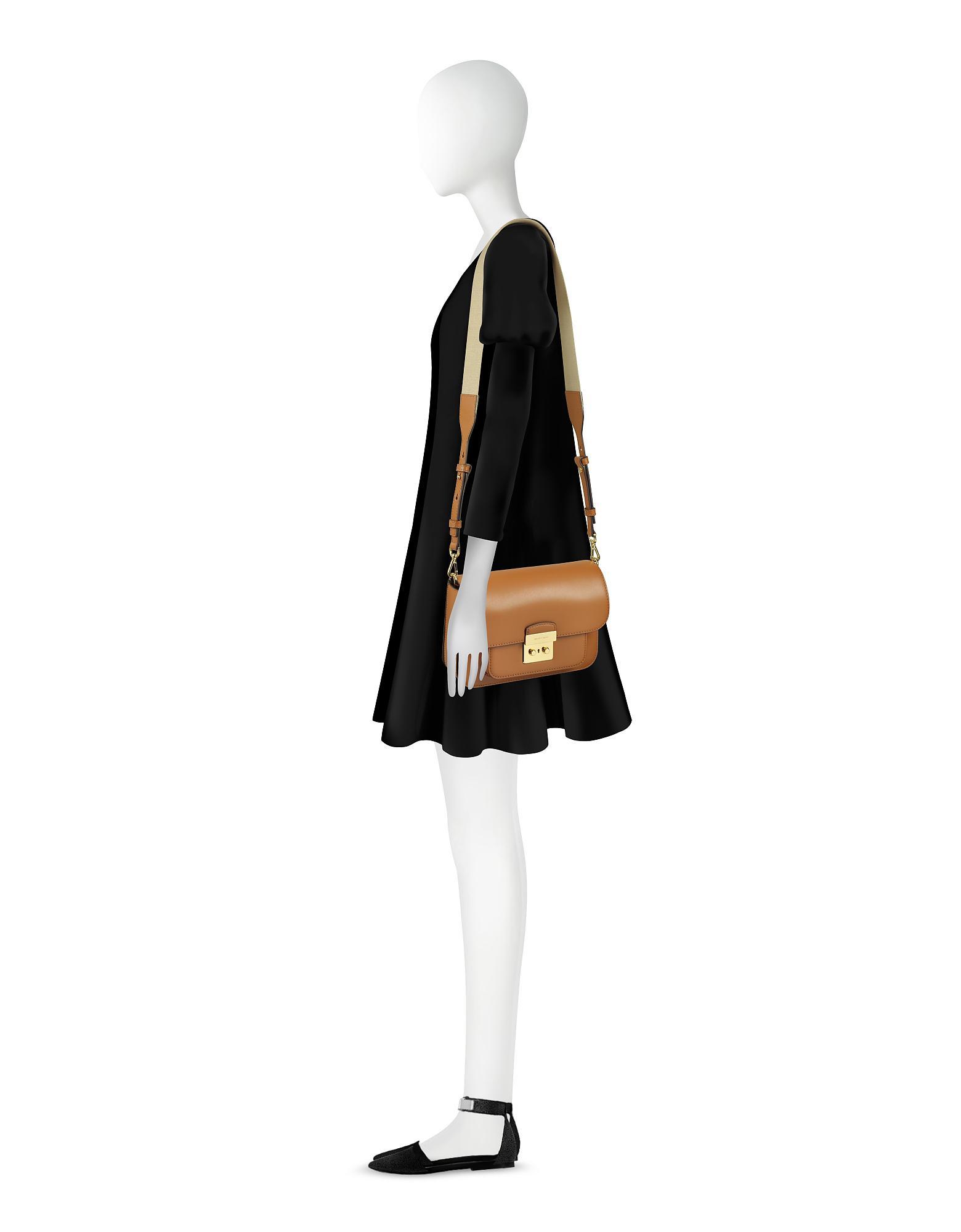 8ecdee356c2c1e Michael Kors Sloan Editor Large Acorn Leather Shoulder Bag in Brown ...