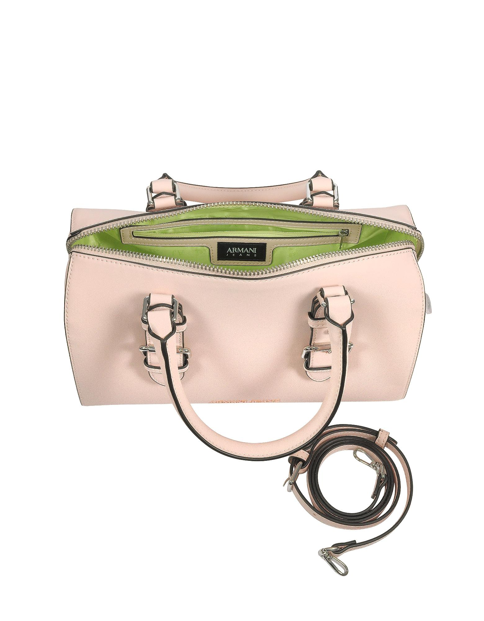 Lyst - Armani Jeans New Light Pink Eco Leather Satchel Bag in Pink e32f5dd86327e