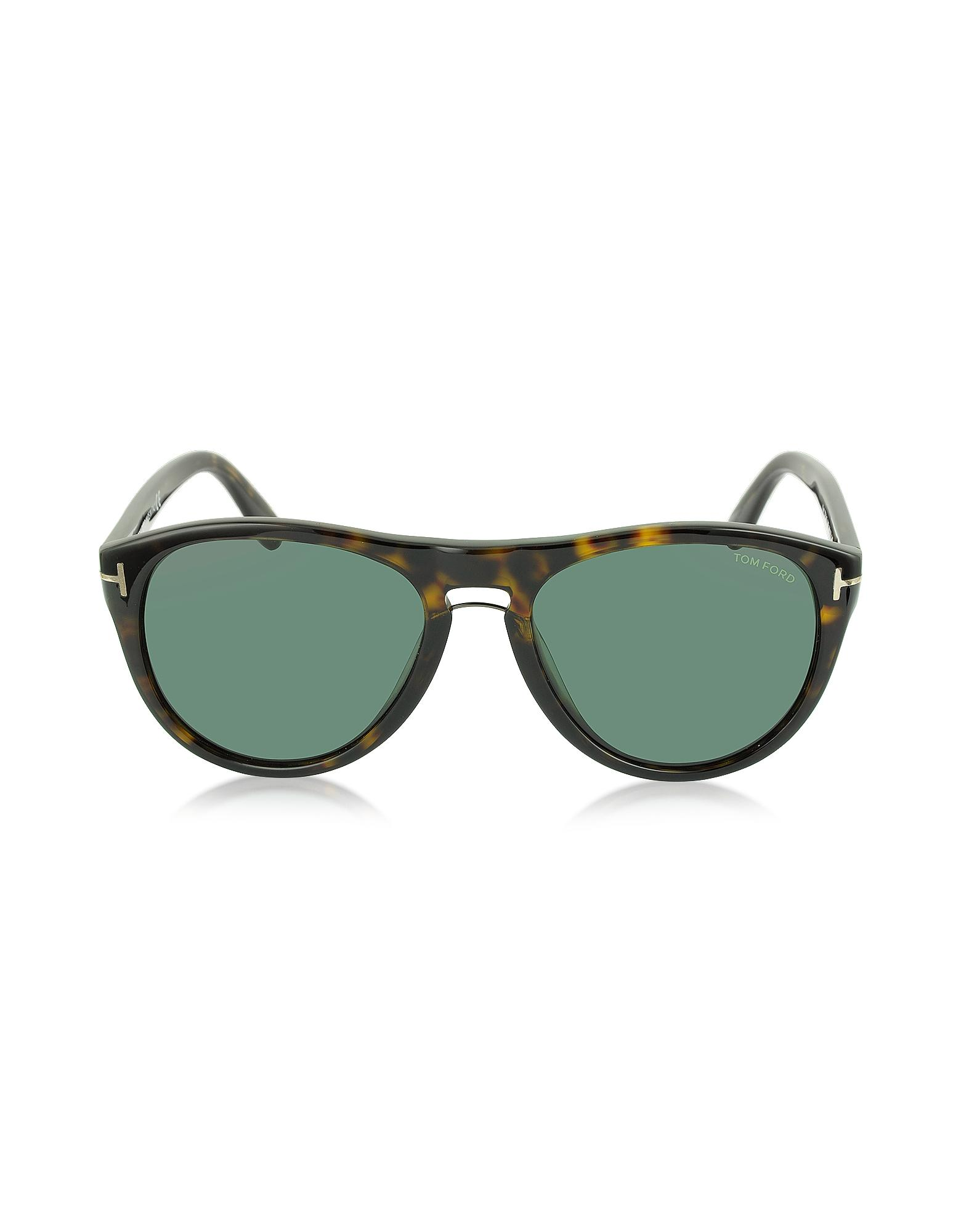 2c4a2c7dd4b3 Tom Ford - Green Kurt Ft0347 Aviator Sunglasses for Men - Lyst. View  fullscreen