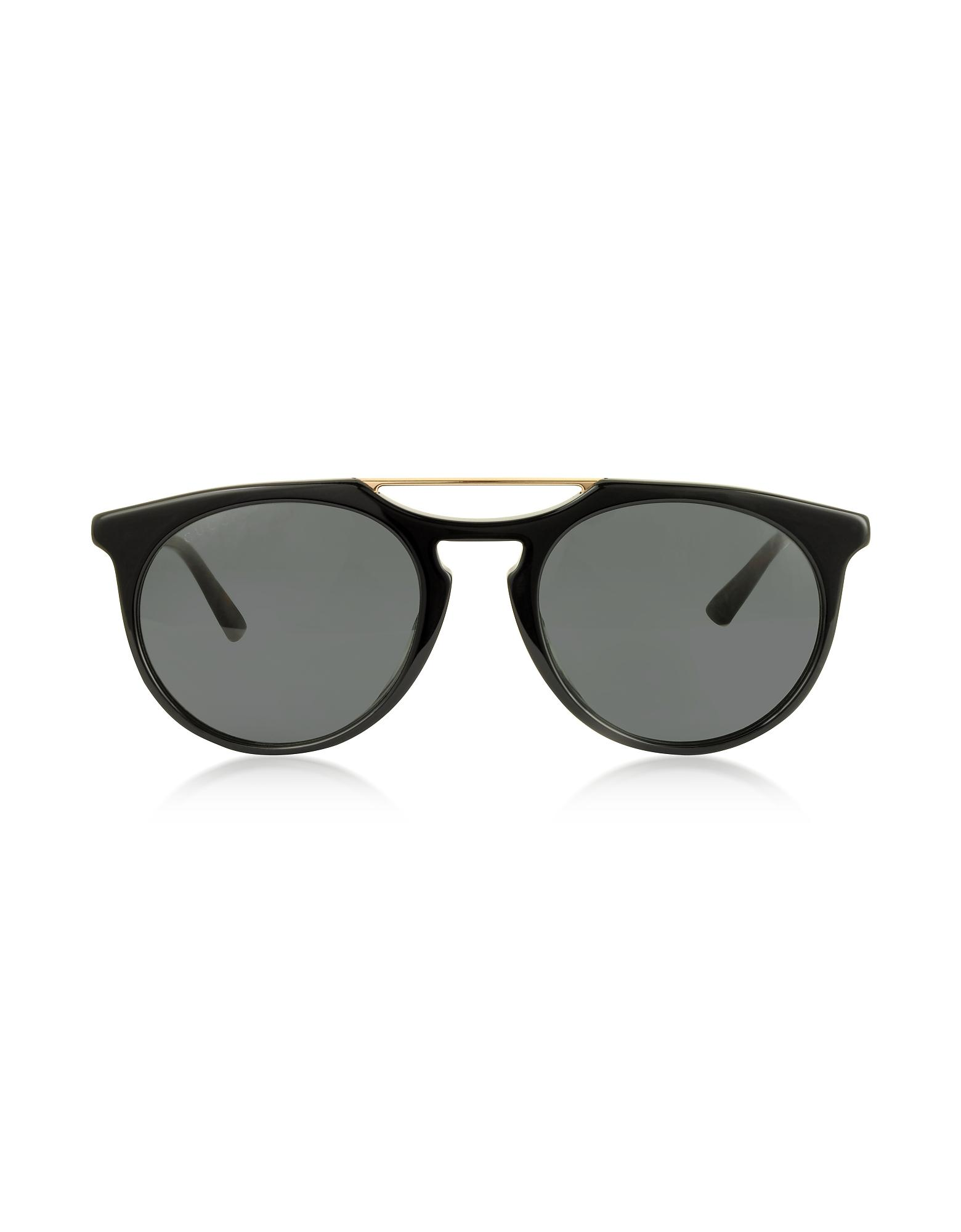 ffa836e85ca Lyst - Gucci GG0320S Round-frame Acetate Sunglasses in Black for Men