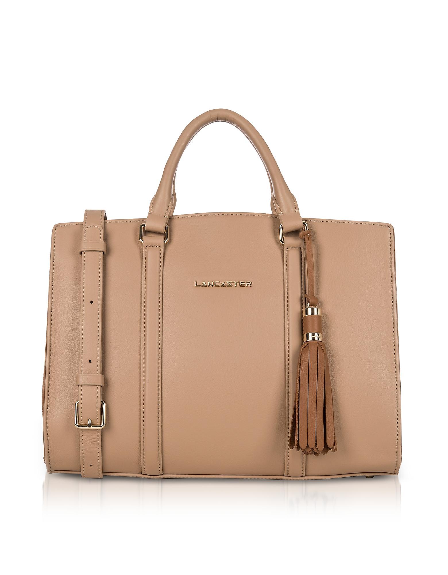 6a718de43e1e Lyst - Lancaster Paris Mademoiselle Ana Nude hazelnut Leather Large ...