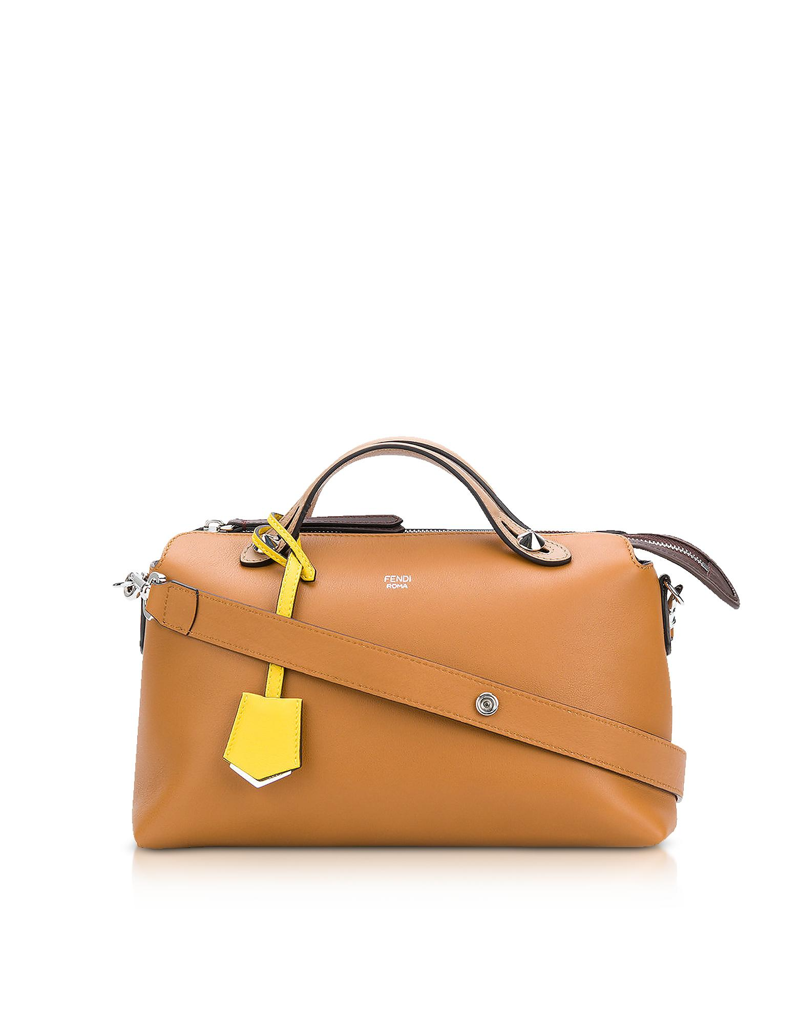 36ce0beb10e4 Lyst - Fendi By The Way Caramel Leather Satchel Bag