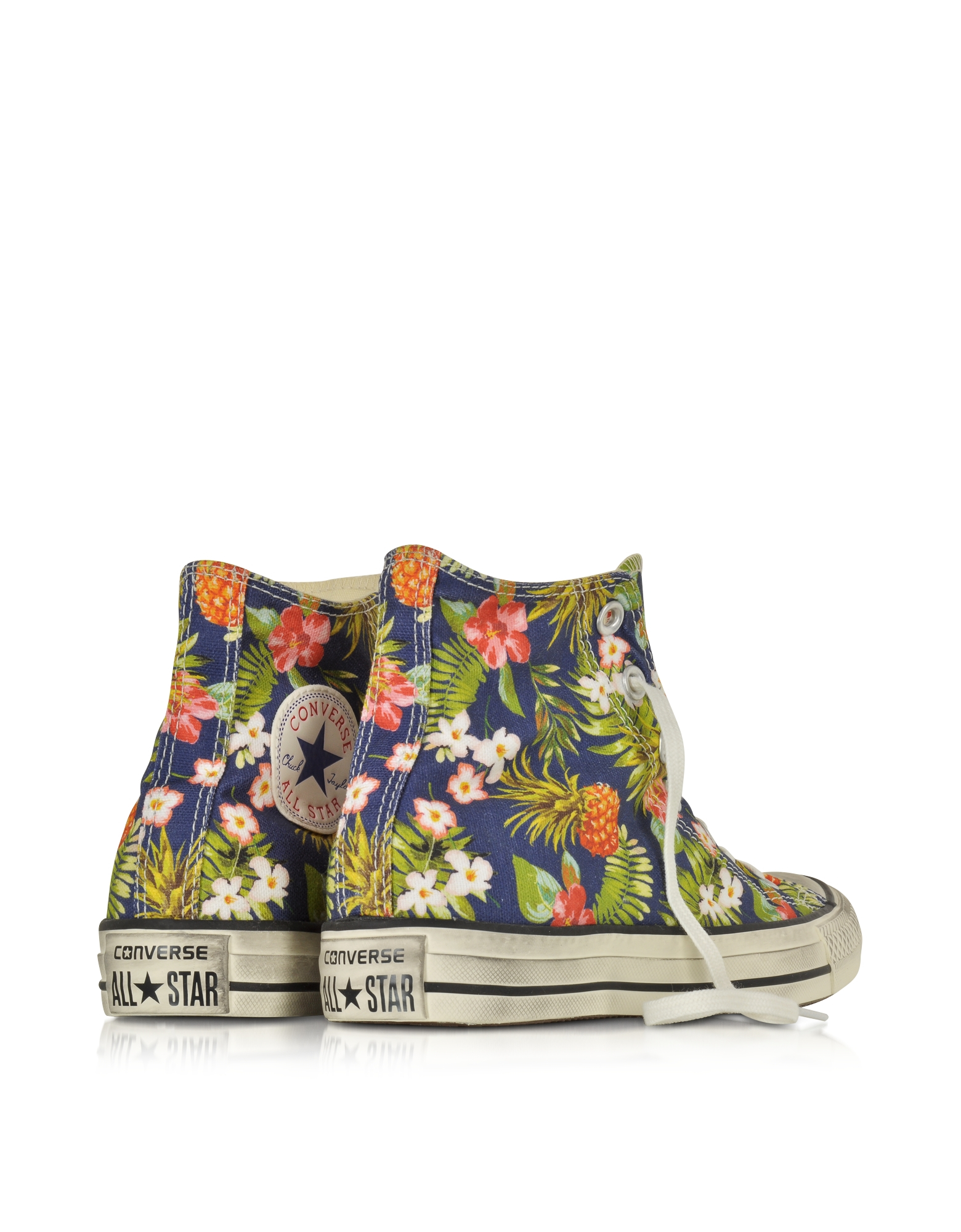 8d88efe02ca283 Lyst - Converse All Star Hi Canvas Graphics Inked Pineapple Print ...