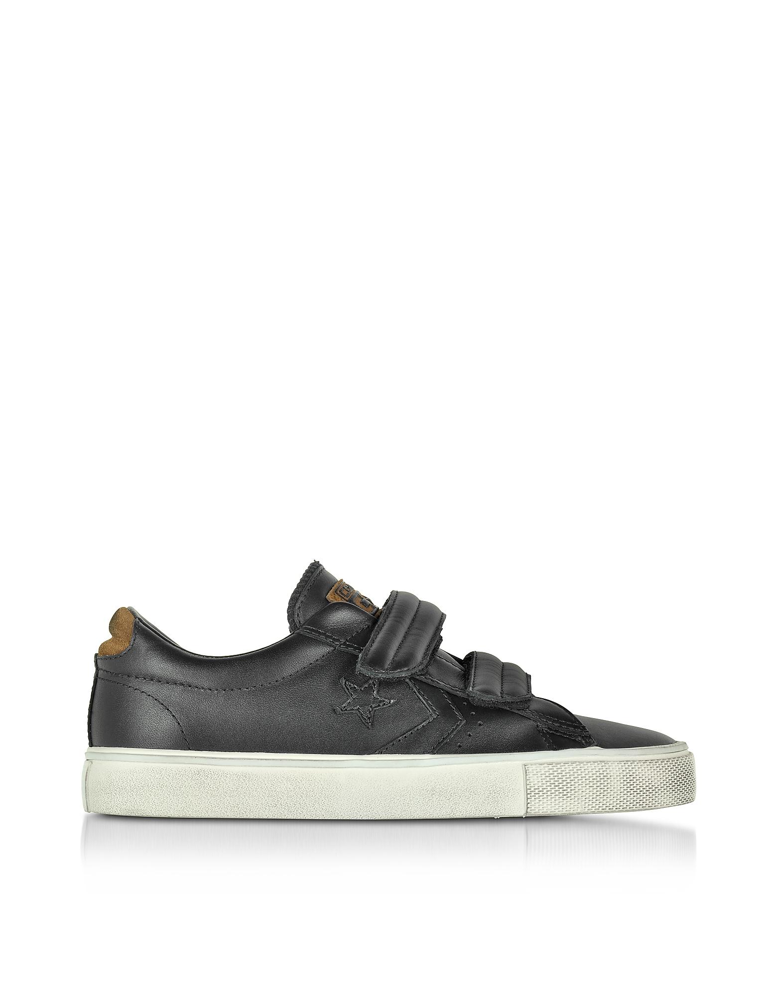 Lyst - Converse Pro Leather Vulc Black Strap Unisex Sneaker in Black 6dfaf91cc1e0